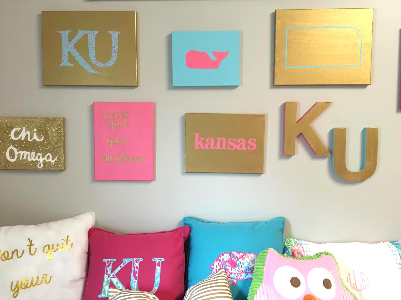 Preppy wall decor ideas diy for your room or dorm Ideas to decorate your room