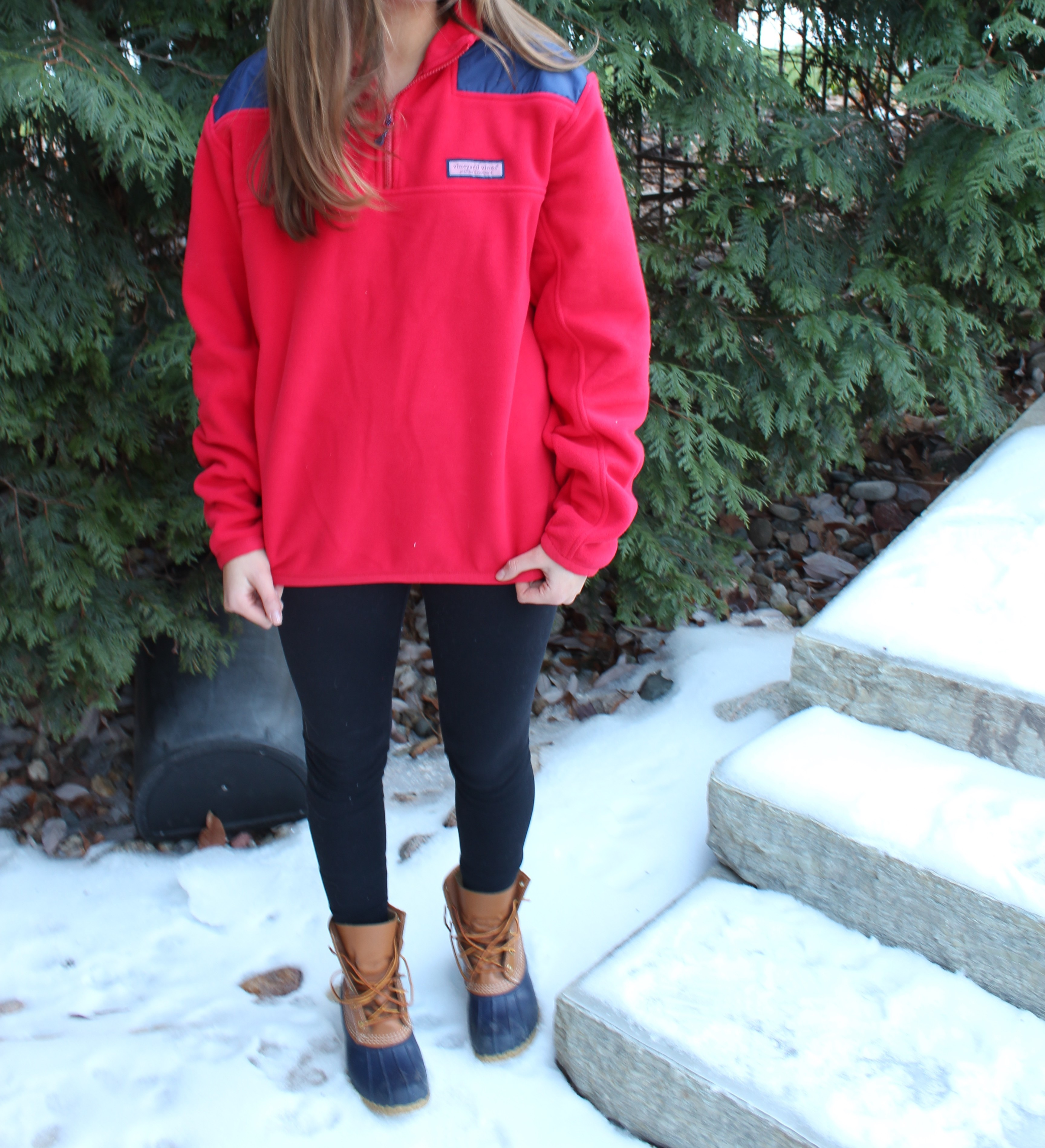 Cold Weather Means Oversized Shep Shirts, Duck Boots, & Mittens | OOTD by Lauren Lindmark on Daily Dose of Charm