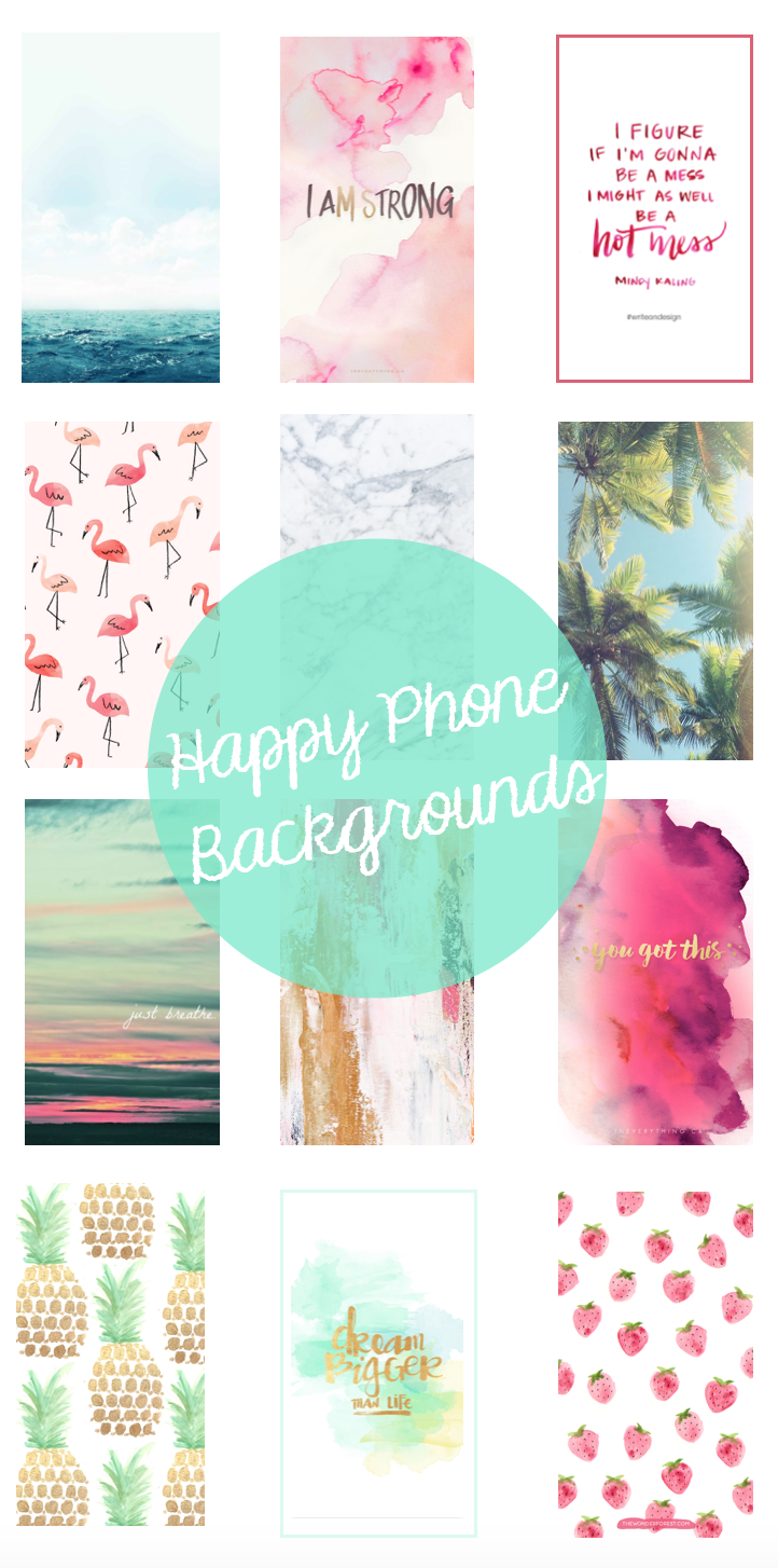 Happy Phone Backgrounds | Lauren Lindmark on Daily Dose of Charm