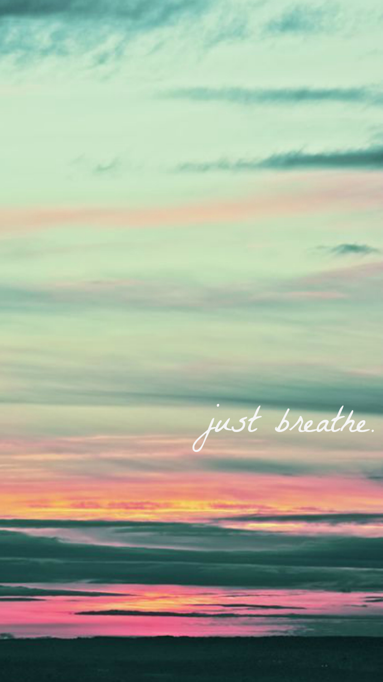 just breathe iphone wallpaper