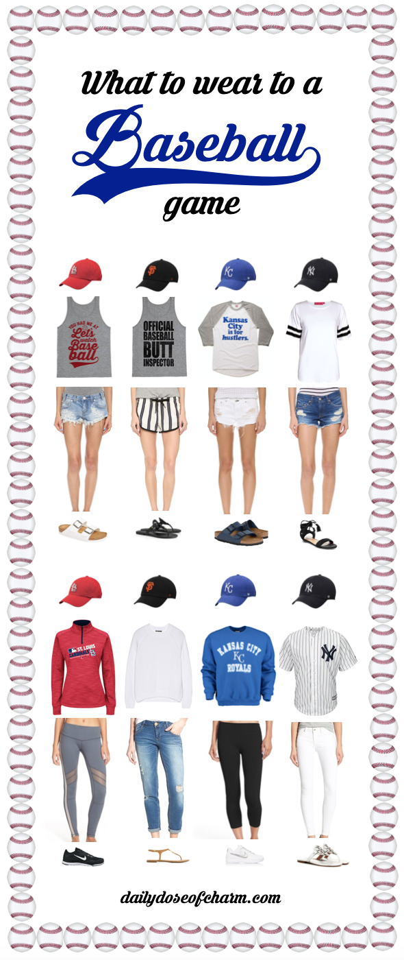 What to Wear to a Baseball Game by Lauren Lindmark on Daily Dose of Charm