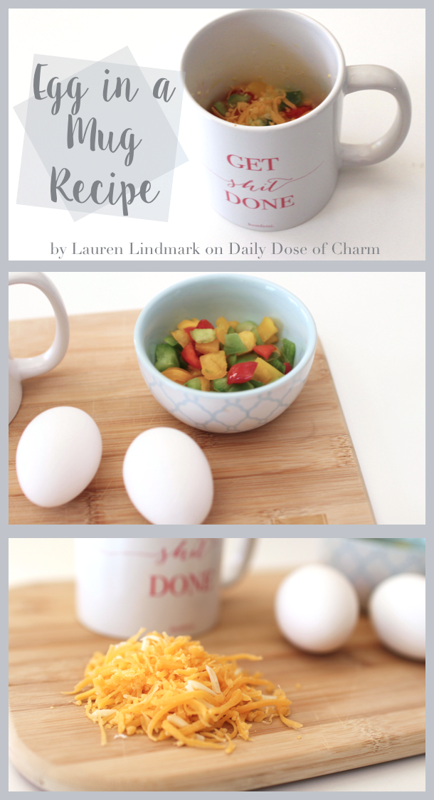 Eggs In A Mug Recipe College Breakfast Ideas On Daily Dose Of Charm By Lauren Lindmark Daily Dose Of Charm