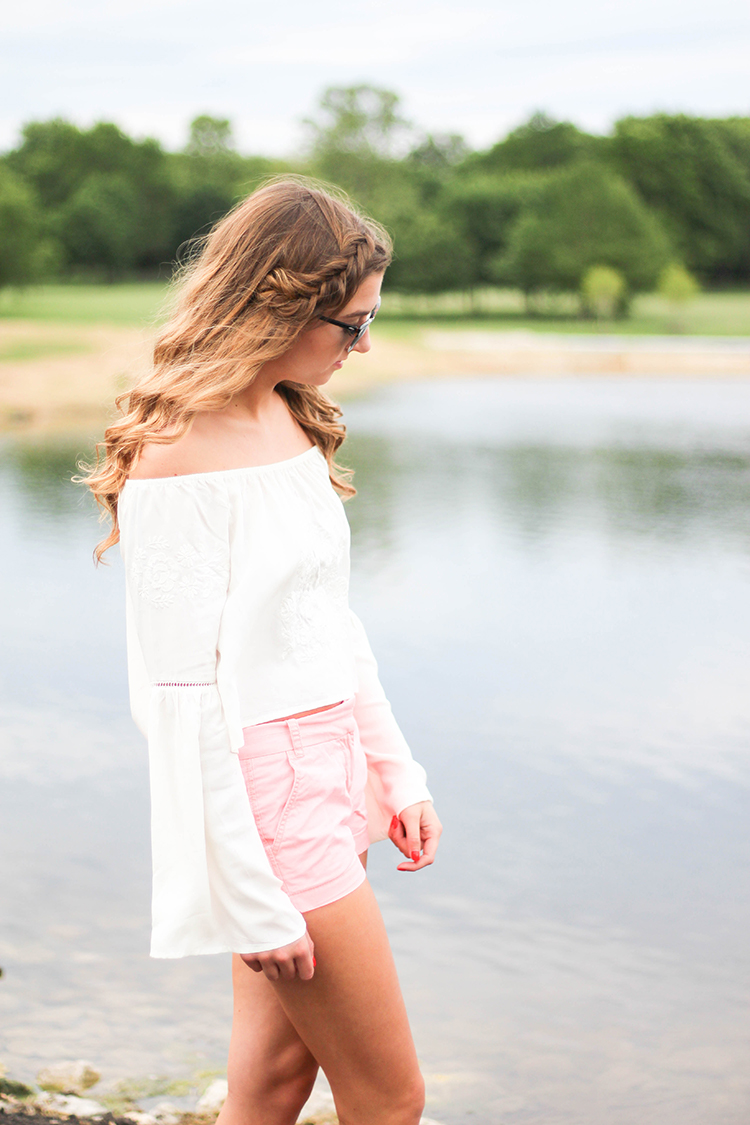 Summer Off The Shoulder Top OOTD dailydoseofcharm.com Daily Dose of Charm by Lauren Lindmark
