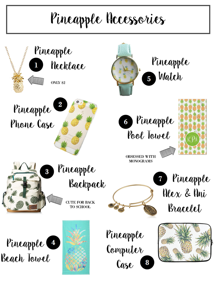 All Pineapple Everything, pineapple clothing, pineapple home decor, pineapple accessories, pineapple party | OOTD + My Pineapple Wishlist
