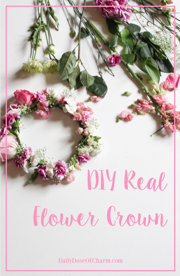 Diy real flower crown super easy and perfect for weddings diy real flower crown super easy and perfect for weddings festivals parties fairy party flower girl and more daily dose of charm izmirmasajfo