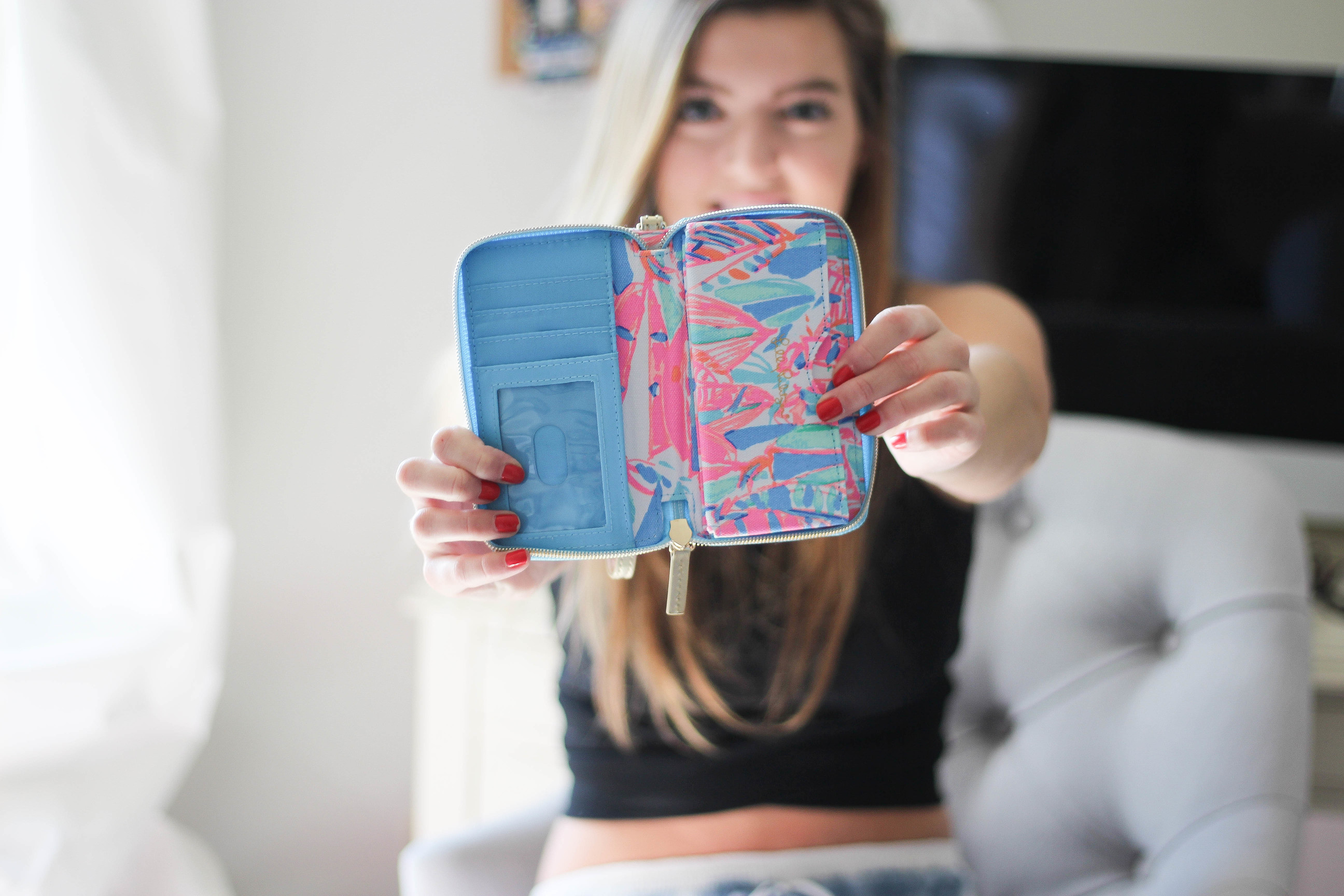 Cute Back to School Supplies and Glasses on Daily Dose of Charm by Lauren Lindmark feat. EyeBuyDirect, Lilly Pulitzer, Target
