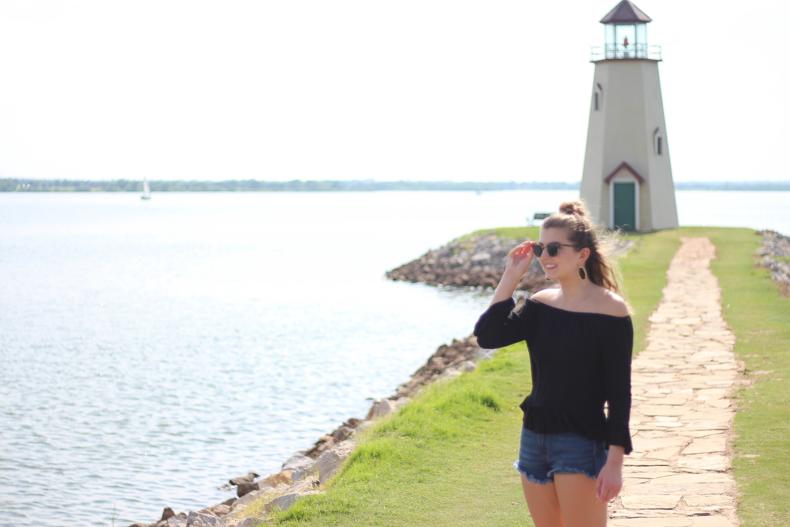 Lake Hefner Oklahoma City Light House Adventure Diary VIDEO by Lauren Lindmark on Daily Dose of Charm