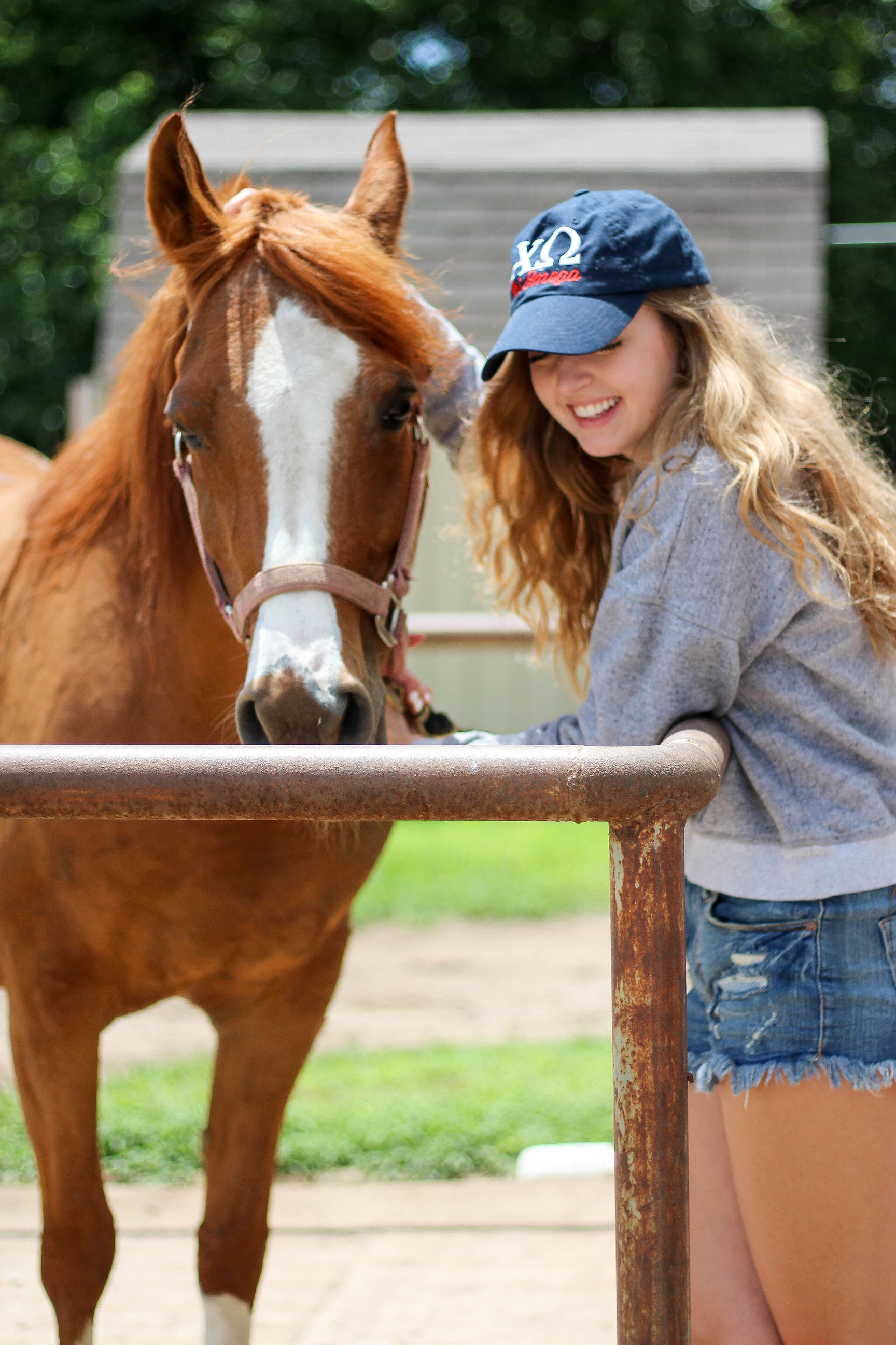 Horse back riding, horse and girl, horses, sorority hat, barn outfit, by lauren lindmark on daily dose of charm