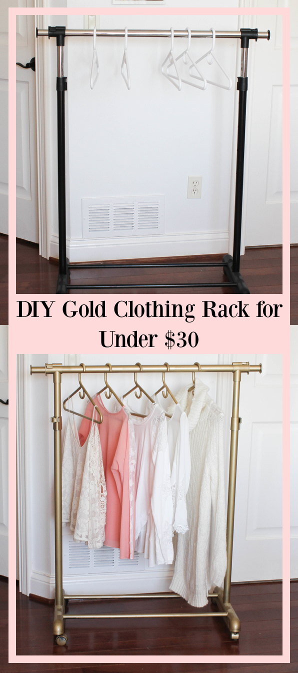 Diy Gold Clothing Rack Under 30 Daily Dose Of Charm