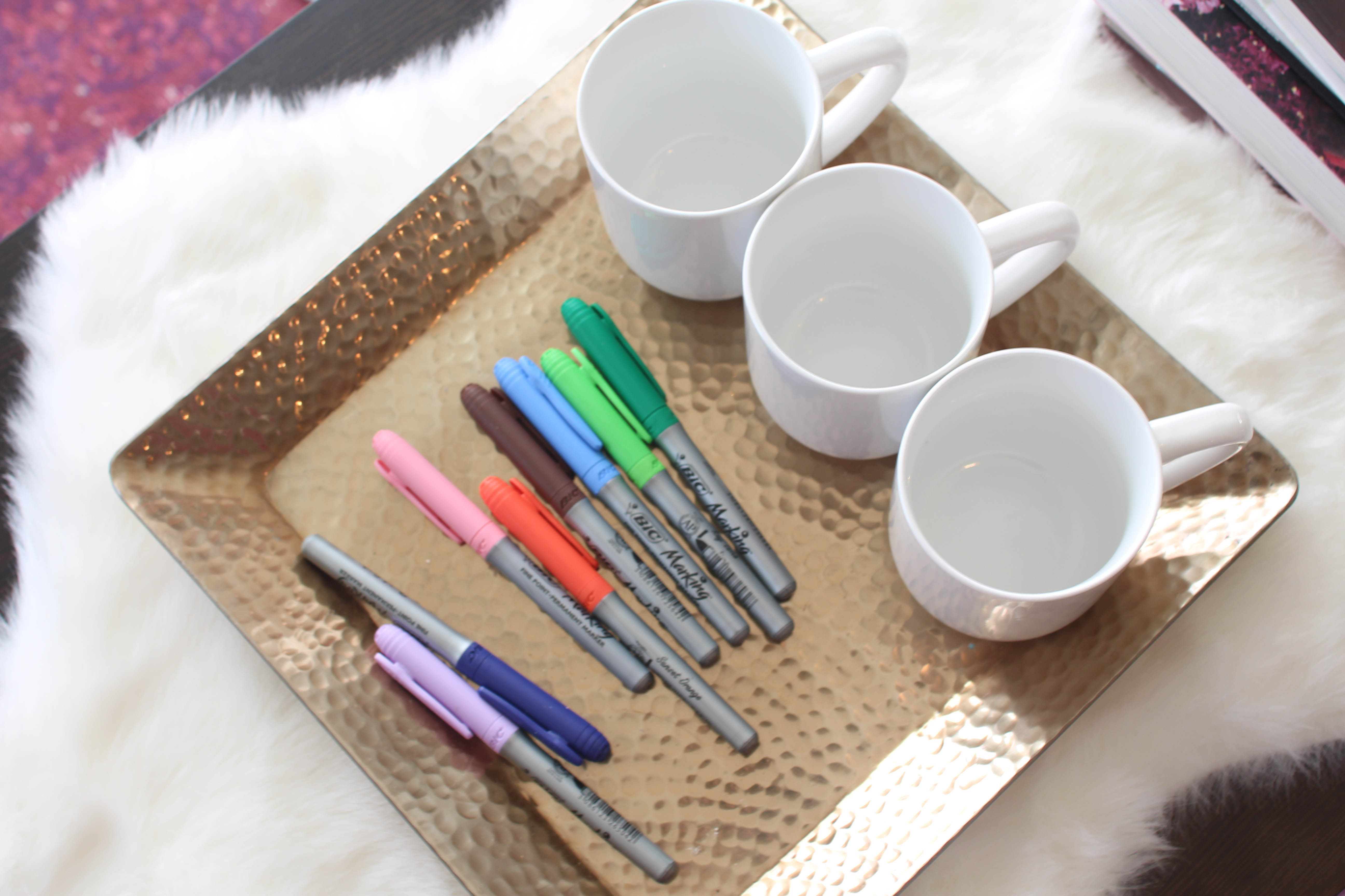 DIY Coffee Mugs for National Coffee Day on daily dose of charm by lauren lindmark