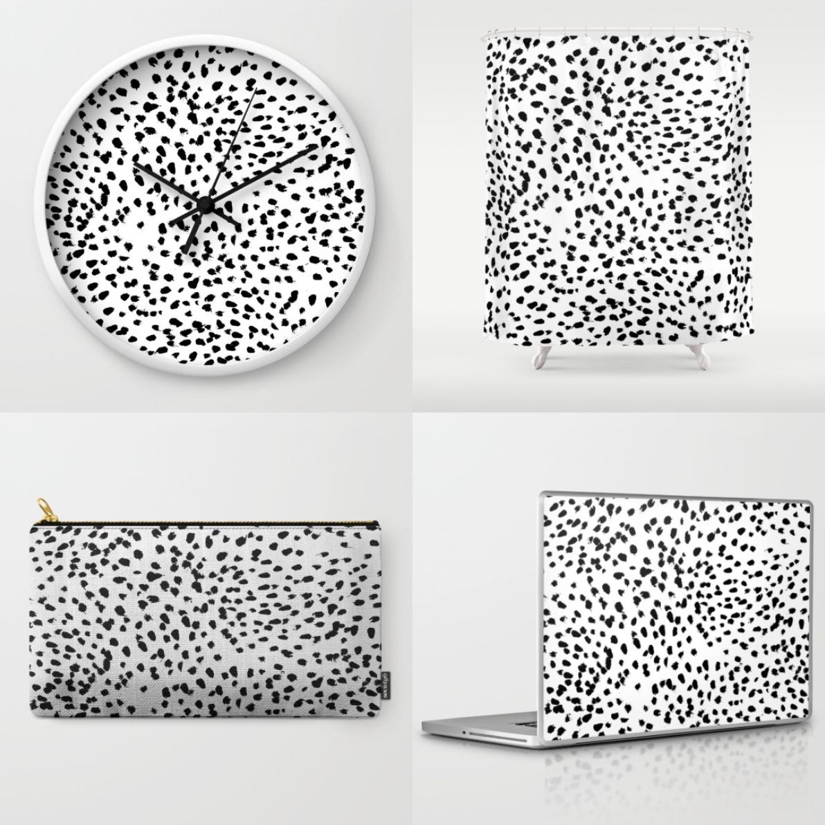 Trend Alert Dalmatian Print Home Decor: Dalmatian Spot Print Obsession + Sneak Peak At Some Of My