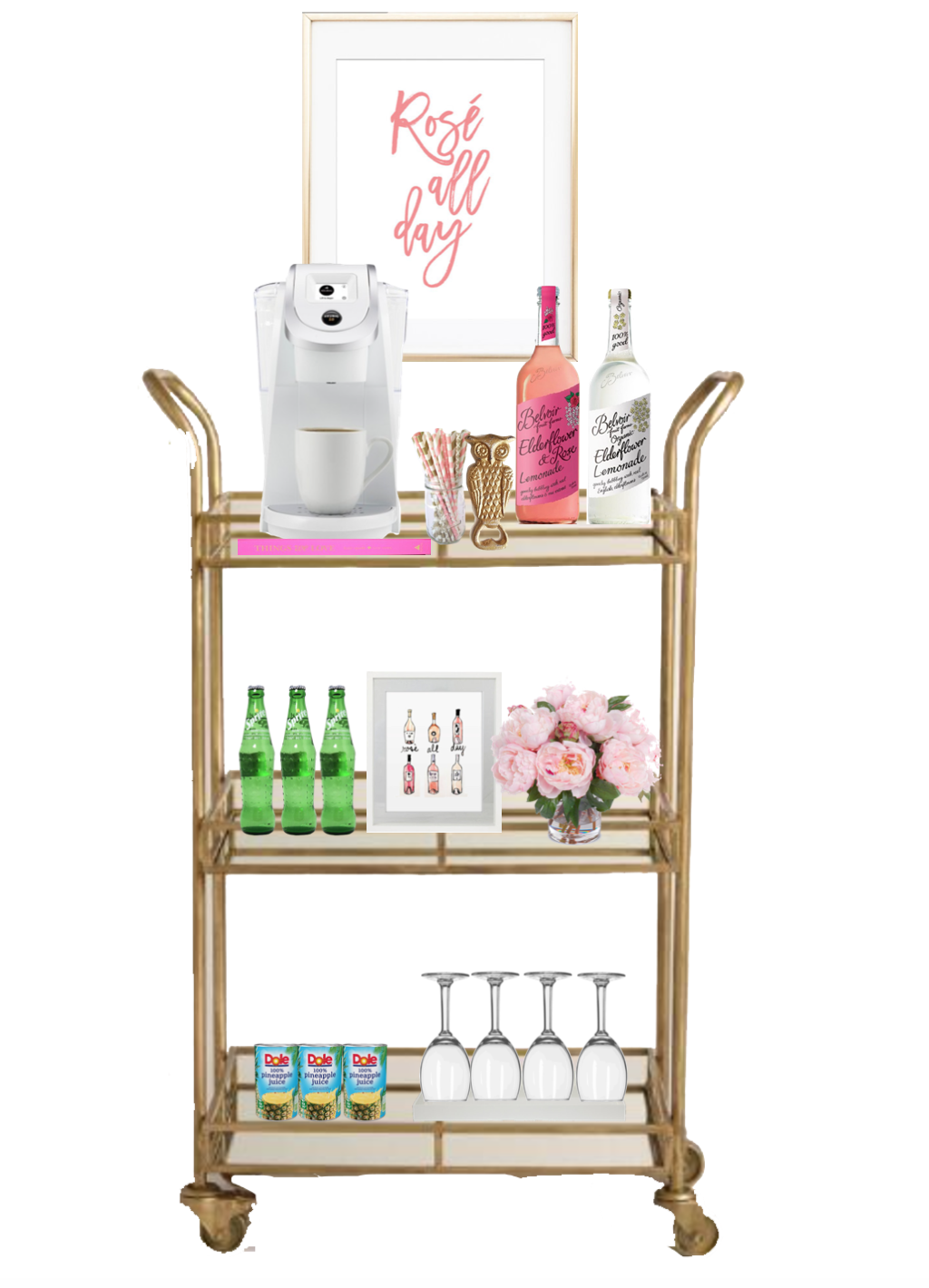 My Bar Cart + How I Easily Decorated it using photoshop! home decor by lauren lindmark on daily dose of charm