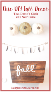 DIY Chic Fall Decor that Doesn't Clash with Your Space