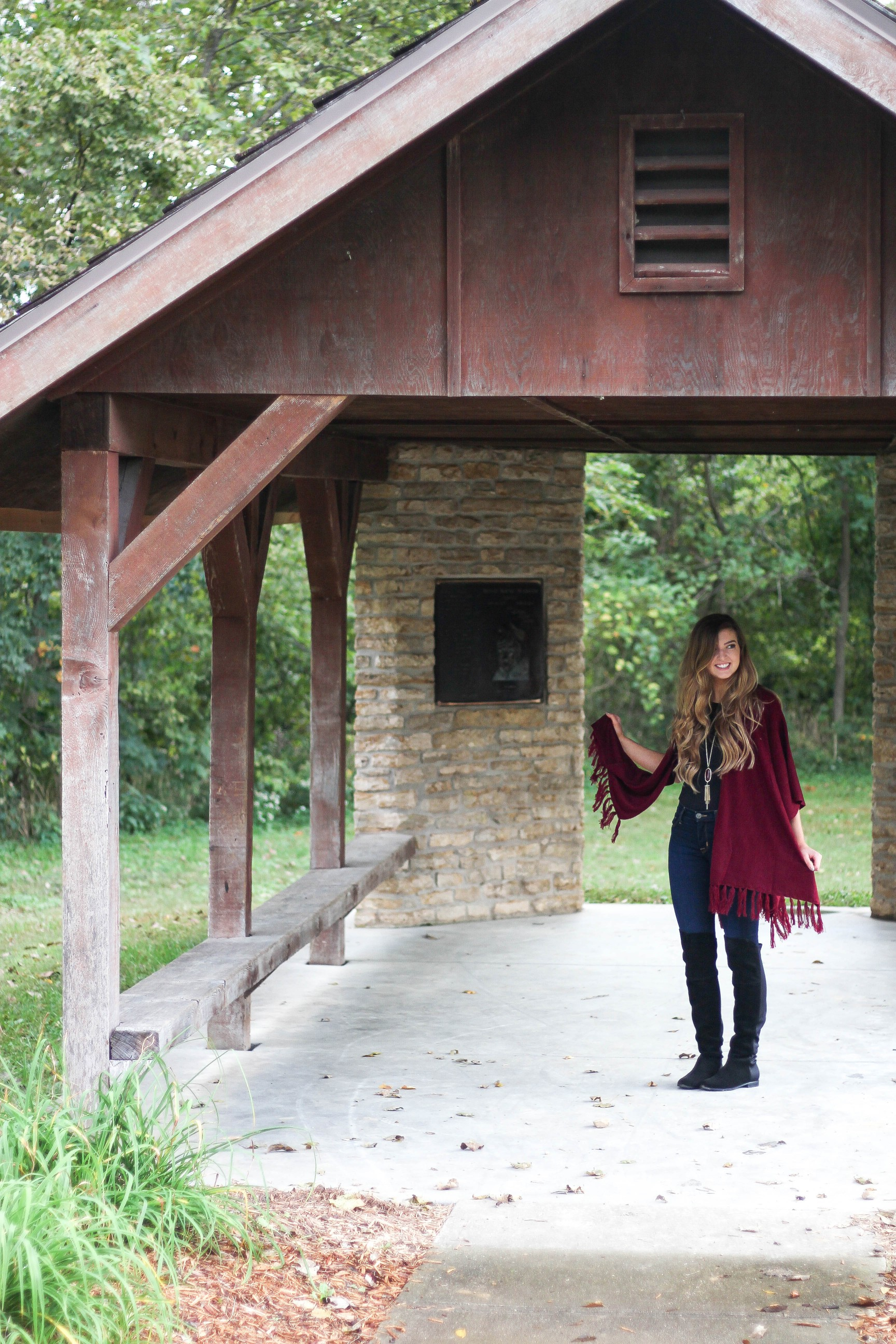 Fall cardigan with over the knee black boots on the blog daily dose of charm dailydoseofcharm.com by lauren lindmark