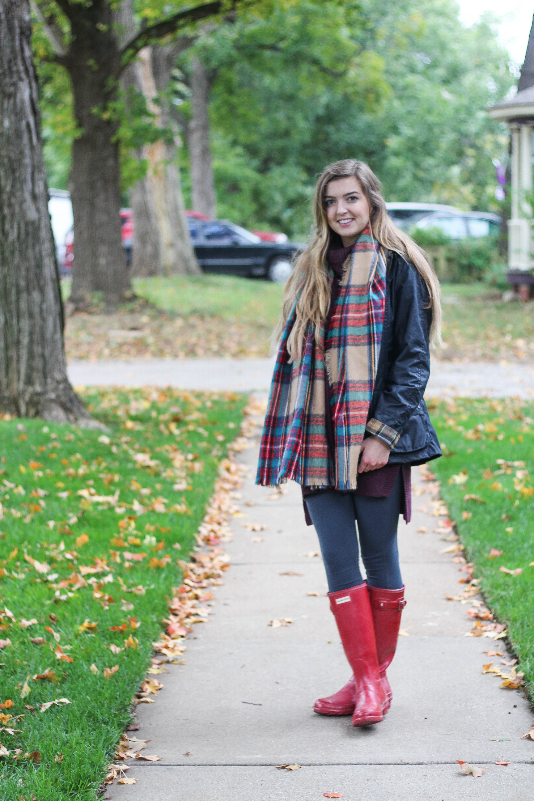Barbour coats and blanket scarves are perfect for fall, see it on the blog daily dose of charm by lauren lindmark dailydoseofcharm.com