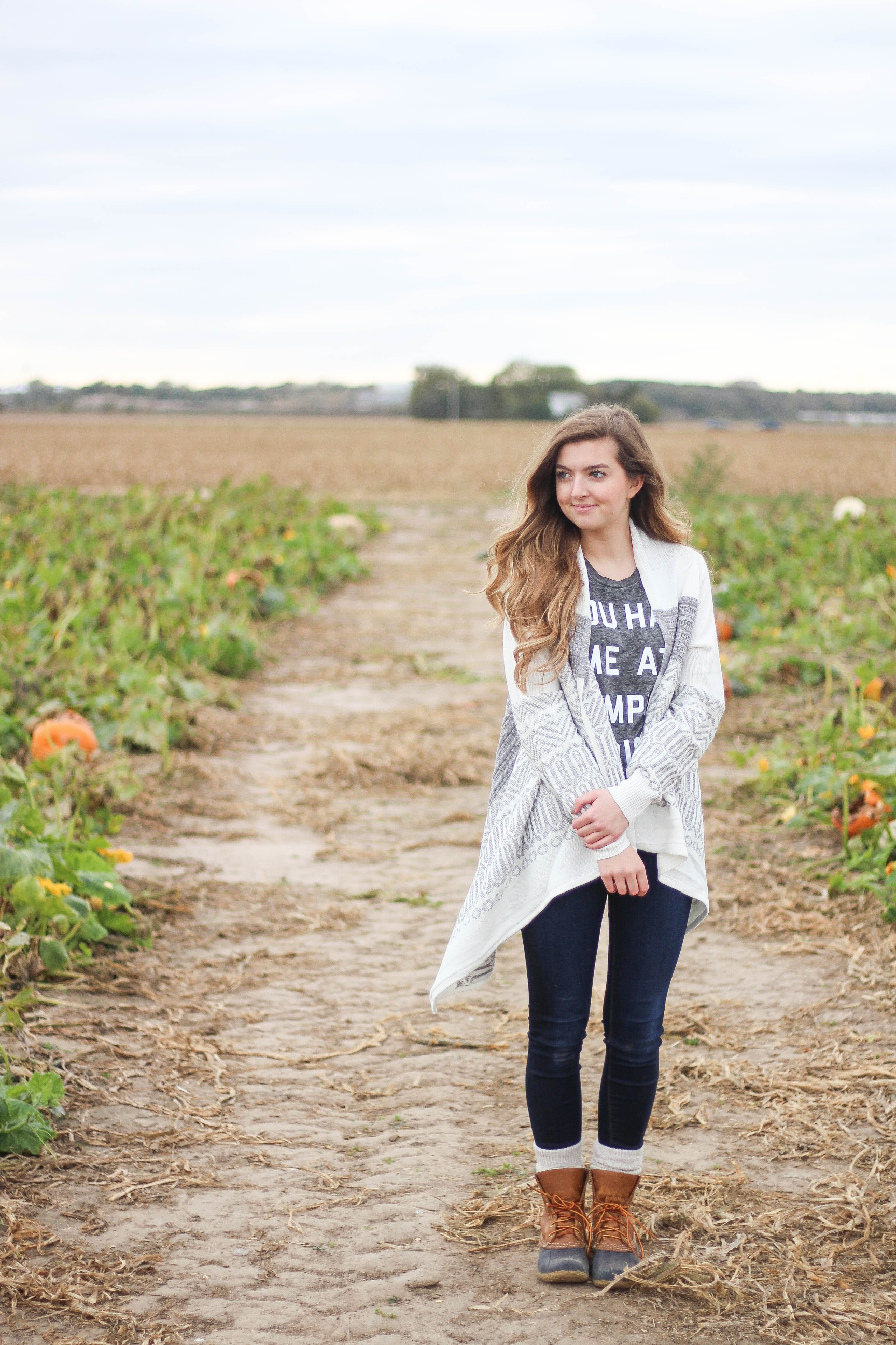 Fall pumpkin patch outfit LL bean boots southern tide by Lauren Lindmark on Daily Dose of Charm dailydoseofcharm.com