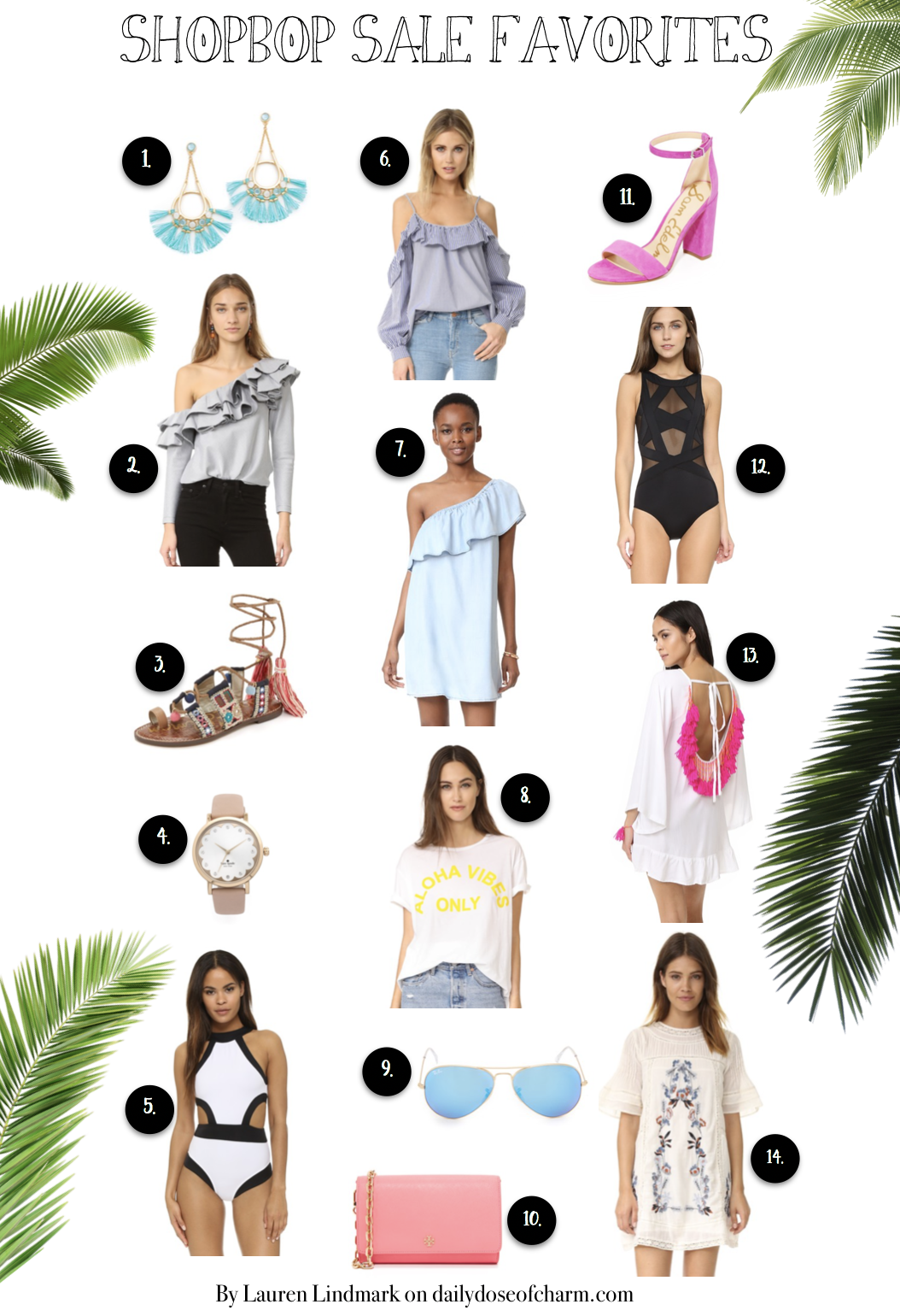 My Shopbop 2017 sale picks! I am in love with all these picks, it was hard to narrow them down! Everything is 15-25% off so it's a great deal! Make sure to head to Shopbop to see! By Lauren Lindmark on dailydoseofcharm.com daily dose of charm