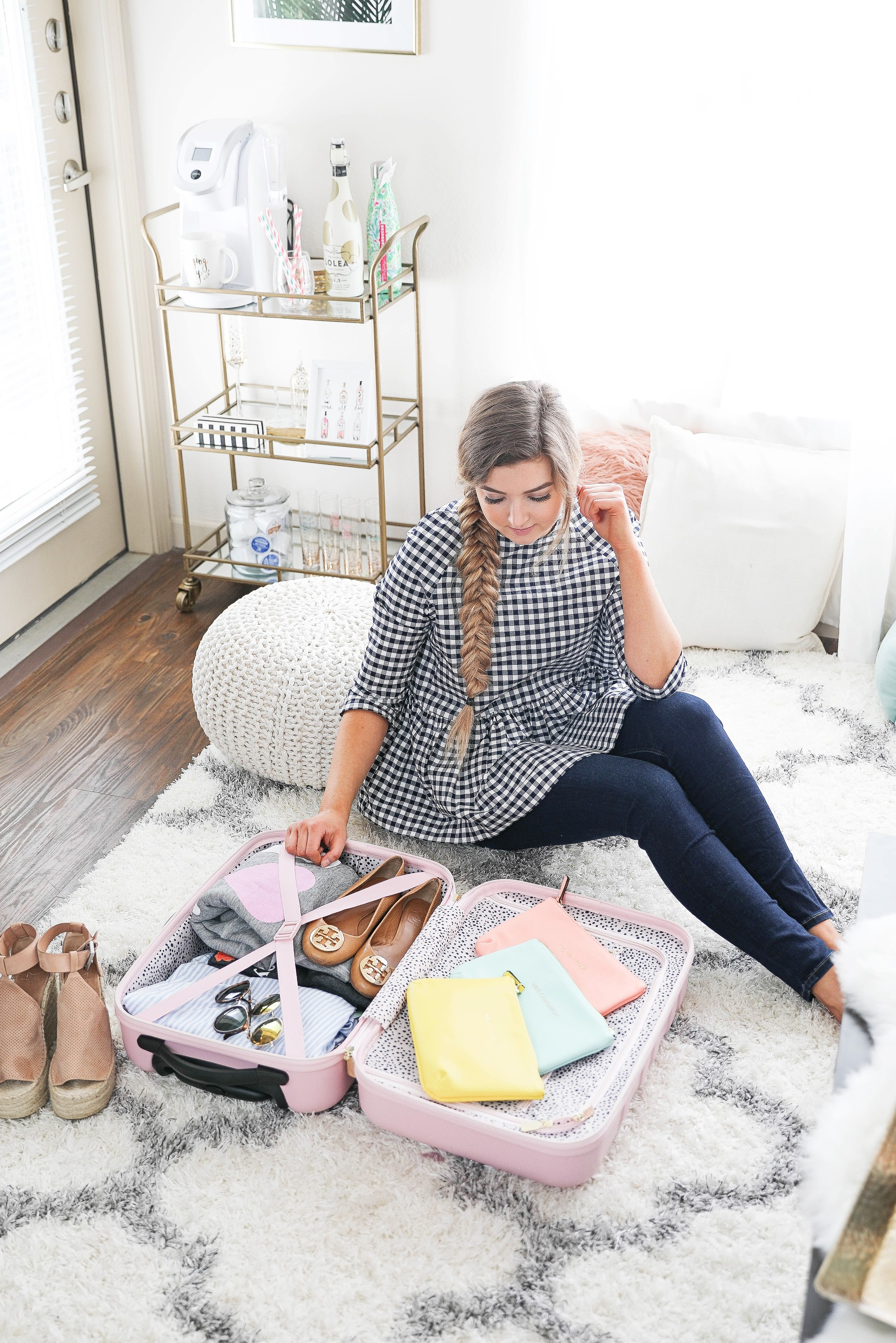 Packing tips and travel tips for frequent flyers! How to travel easier plus cute suitcases. On the blog Daily Dose of Charm by Lauren Lindmark dailydoseofcharm.com