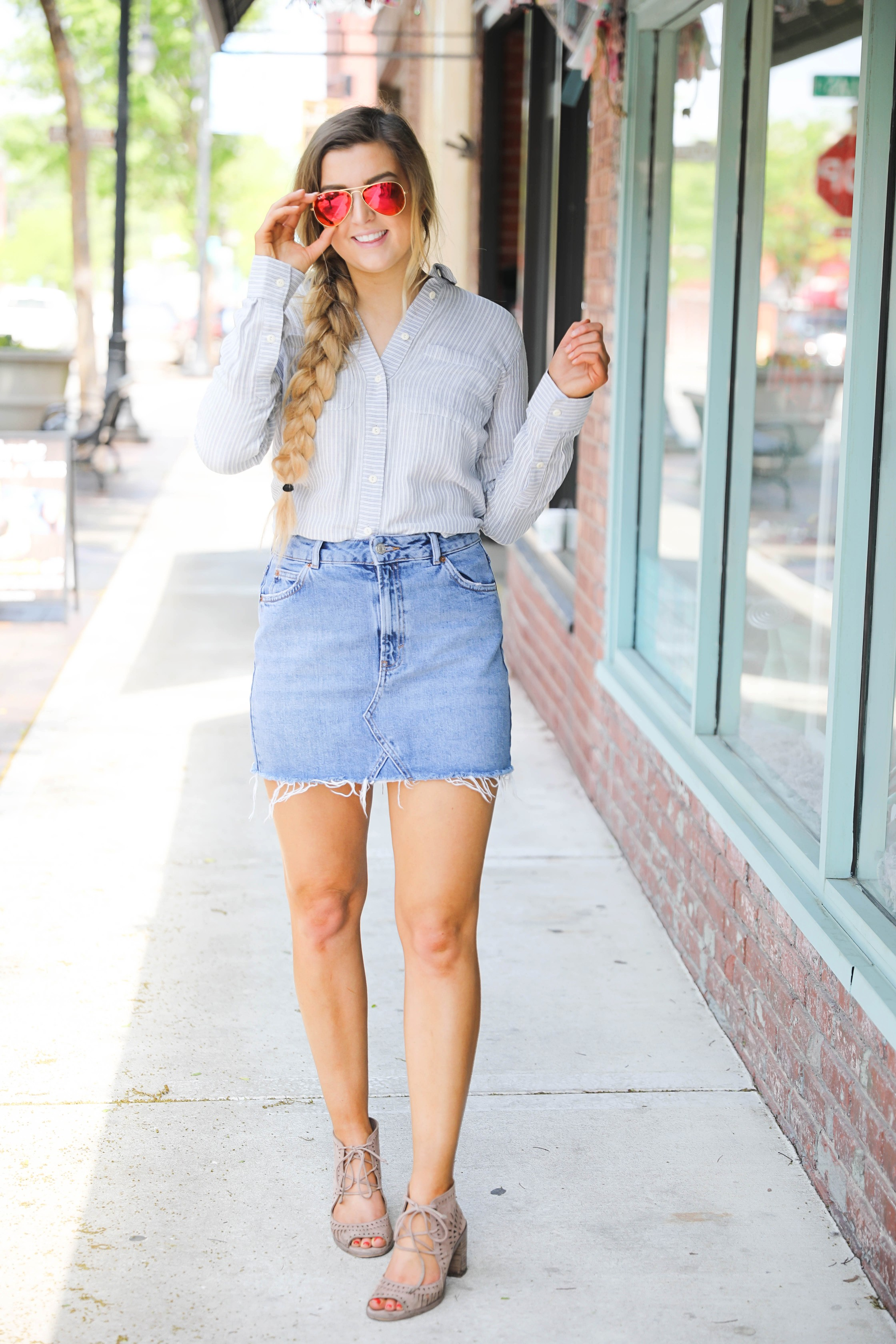 How to Style Jean Skirts | OOTD | daily dose of charm