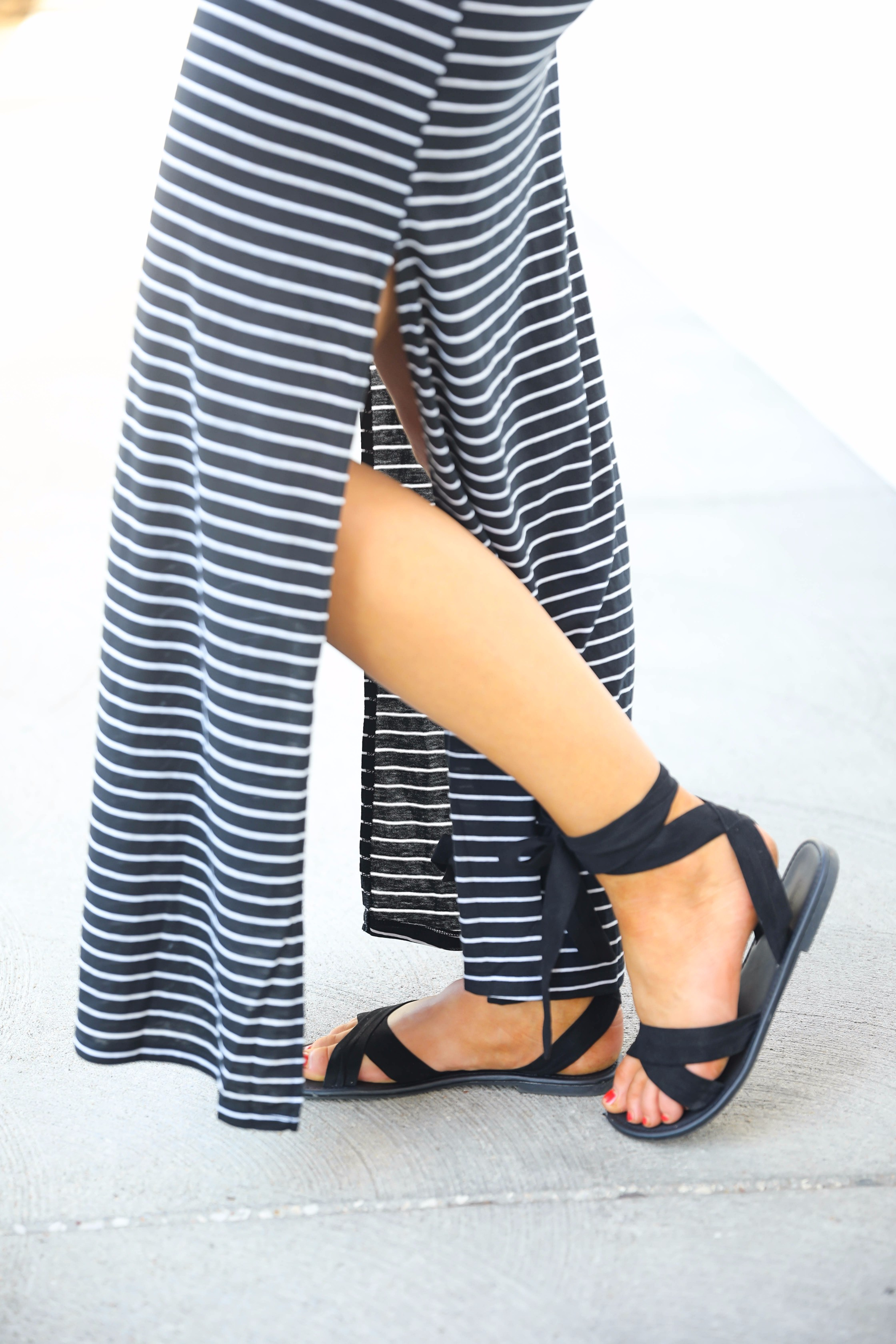Striped Maxi with messy fishtail french braid by lauren Lindmark on daily dose of charm 4P6A7715
