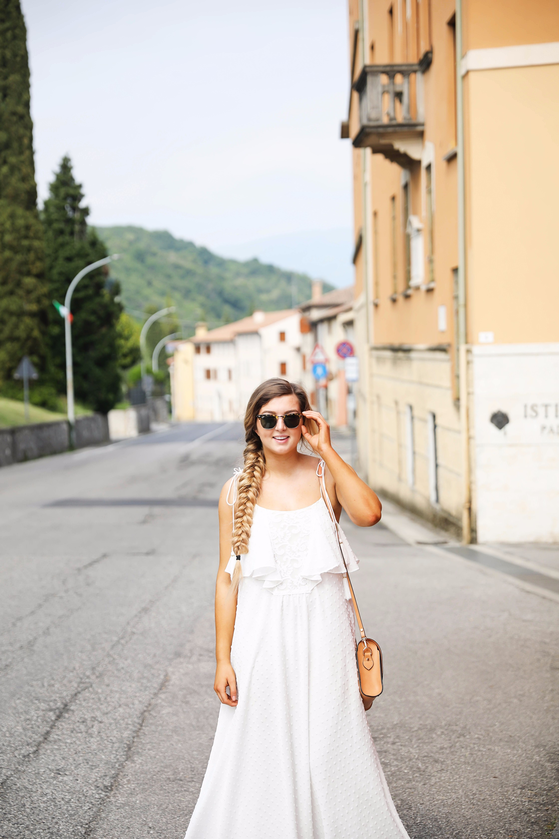 The Cutest White Maxi Dress Ootd Paderno Del Grappa