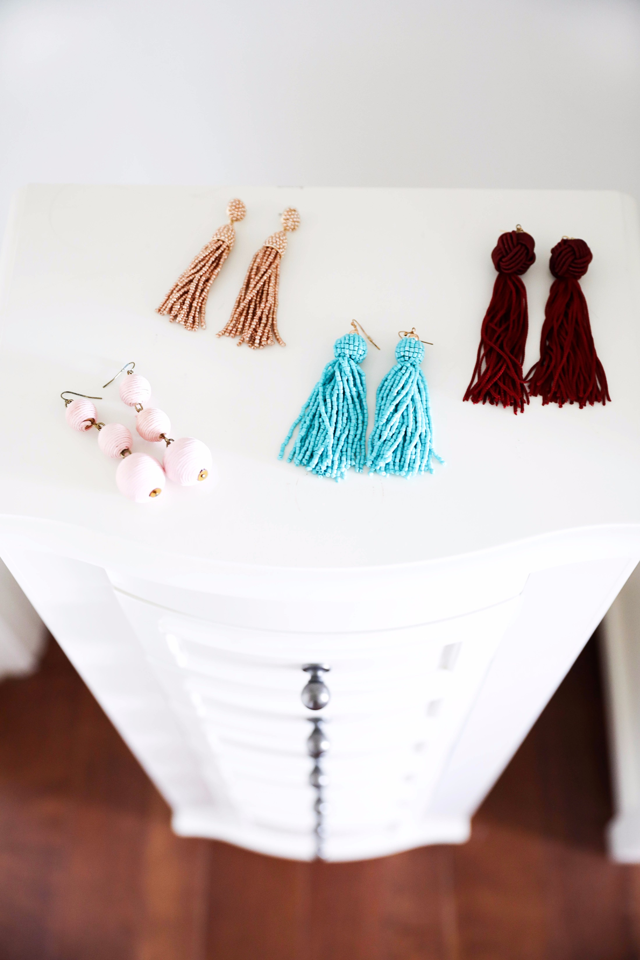 Tassel statement earrings June favorites by fashion and lifestyle blogger lauren lindmark on daily dose of charm