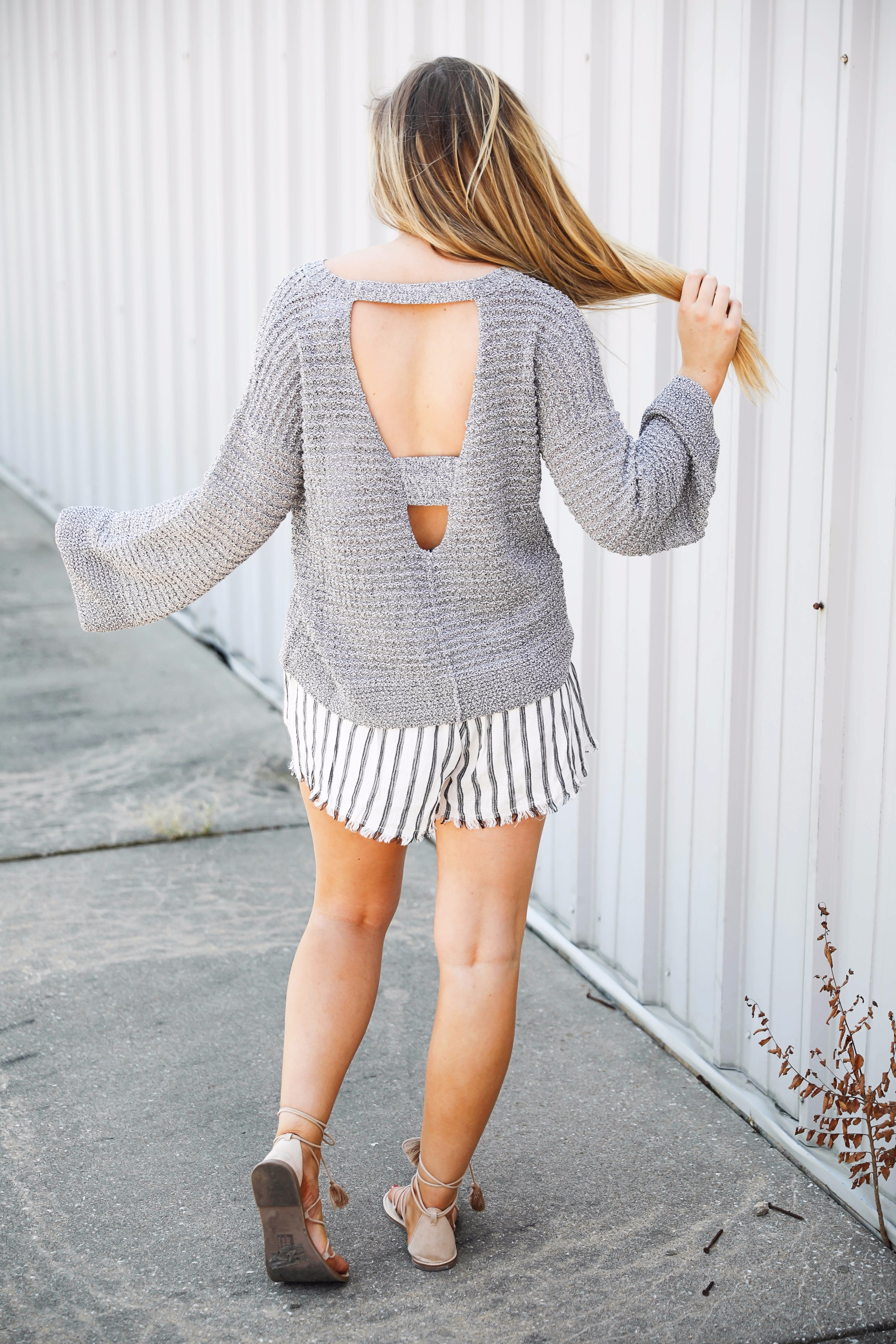 Open Back Sweaters Tops