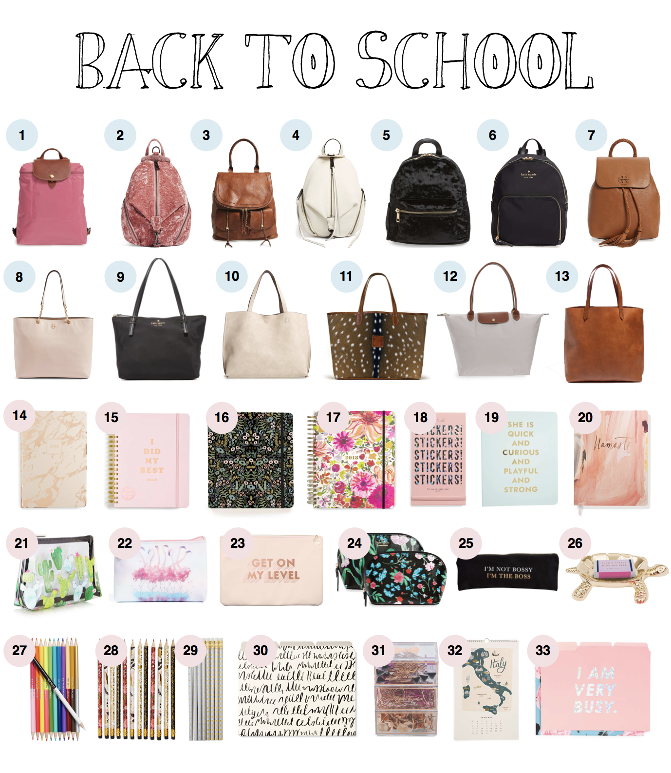 Back To School Supplies Bags Backpacks That Are Actually Cute Roundup