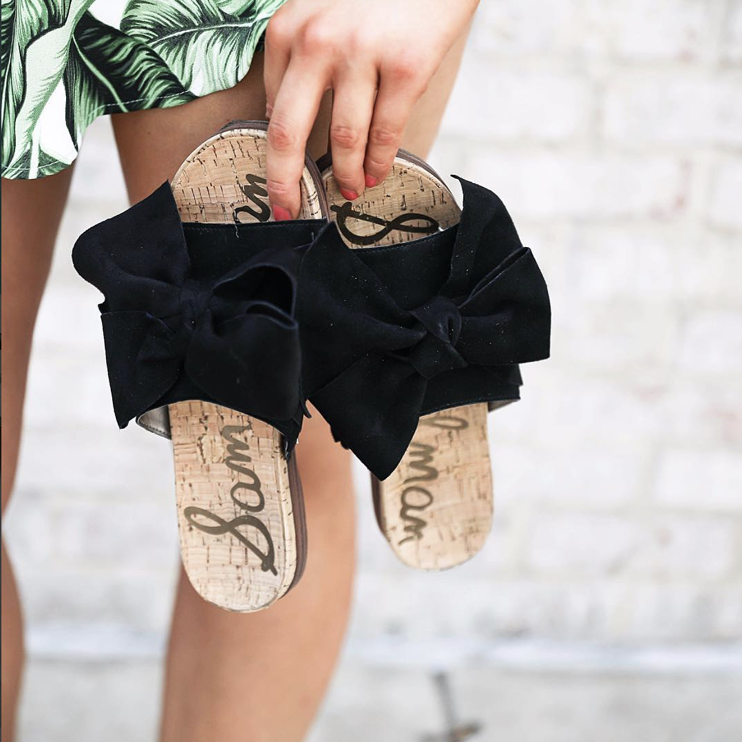 Sam Edelman lack bow sandals on June Instagram Roundup 2017 on fashion Instagram @dailydoseofcharm by fashion blogger daily dose of charm AKA lauren lindmark