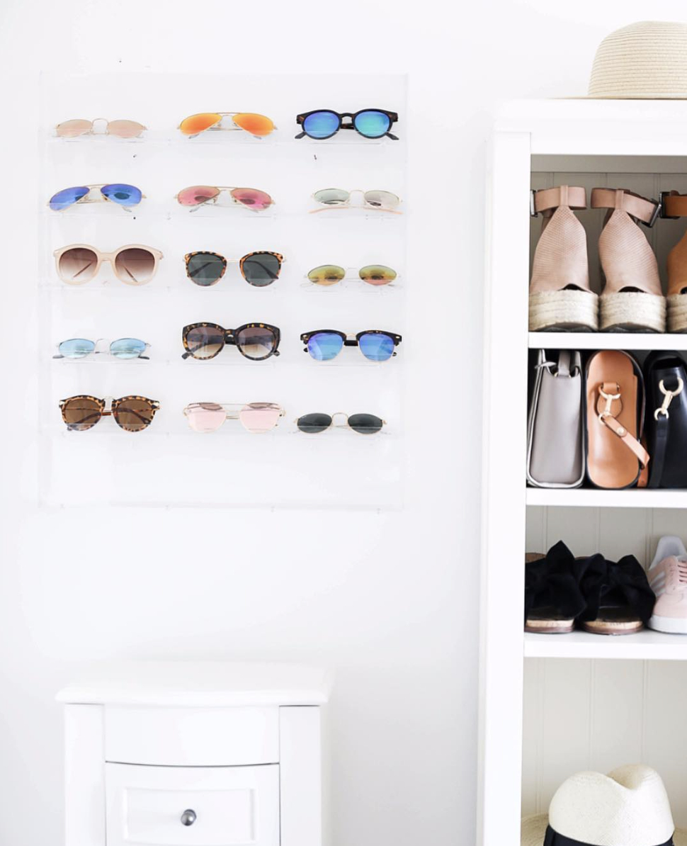 Sunglasses holder for only $30! Cute sunglasses and shoe shelf. The best shoe shelf storage on June Instagram Roundup 2017 on fashion Instagram @dailydoseofcharm by fashion blogger daily dose of charm AKA lauren lindmark