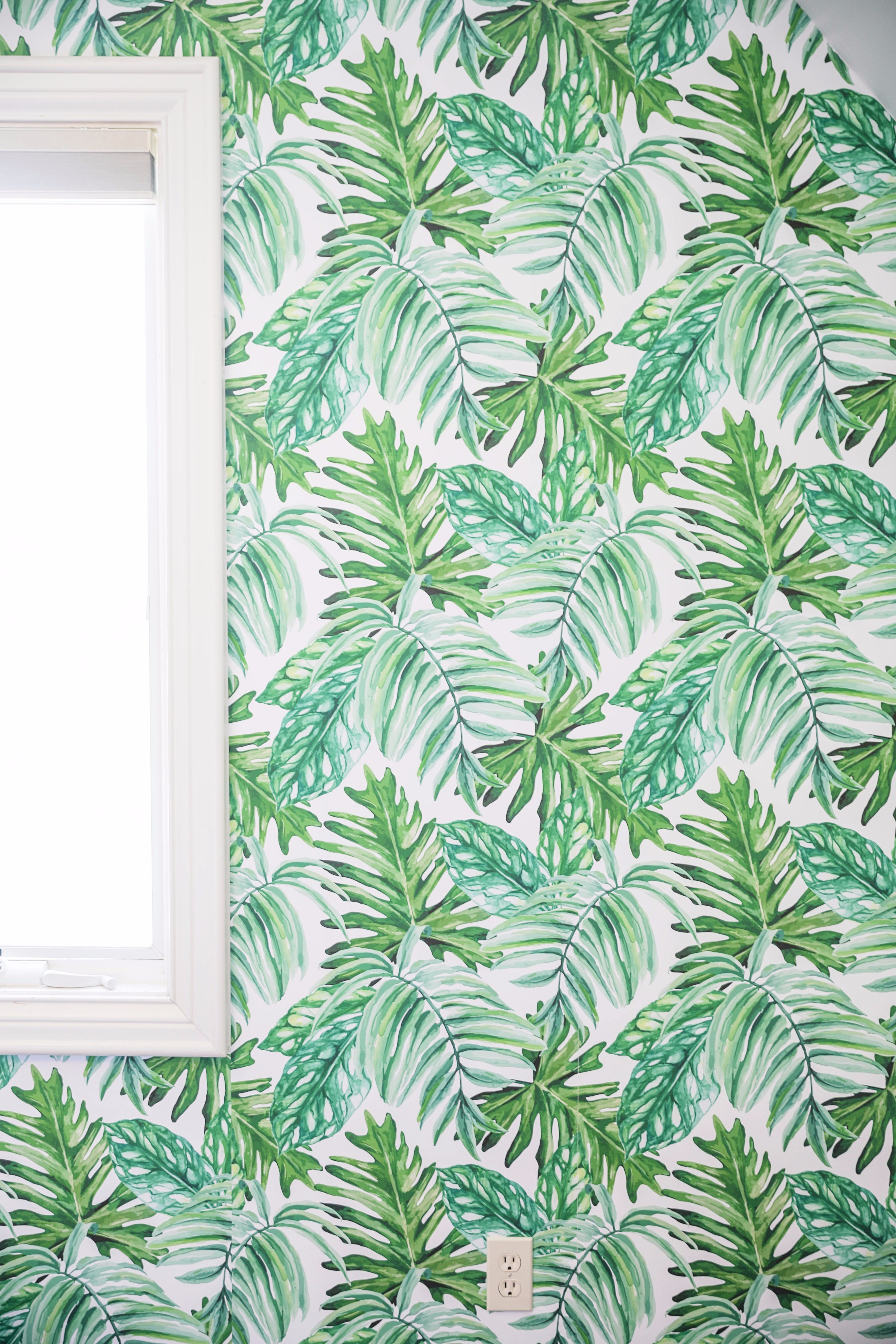Palm Leaf Temporary Wallpaper | + VIDEO | Daily Dose of Charm