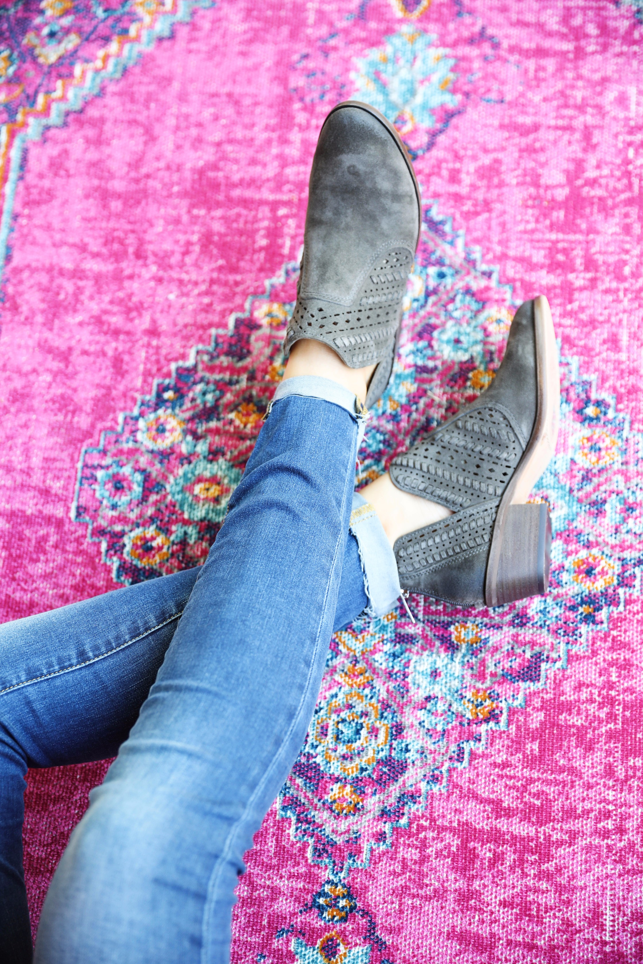 My favorite booties for fall! You can't go wrong with a cute pair of booties, and you can never have too many! On fashion blog daily dose of charm by lauren lindmark