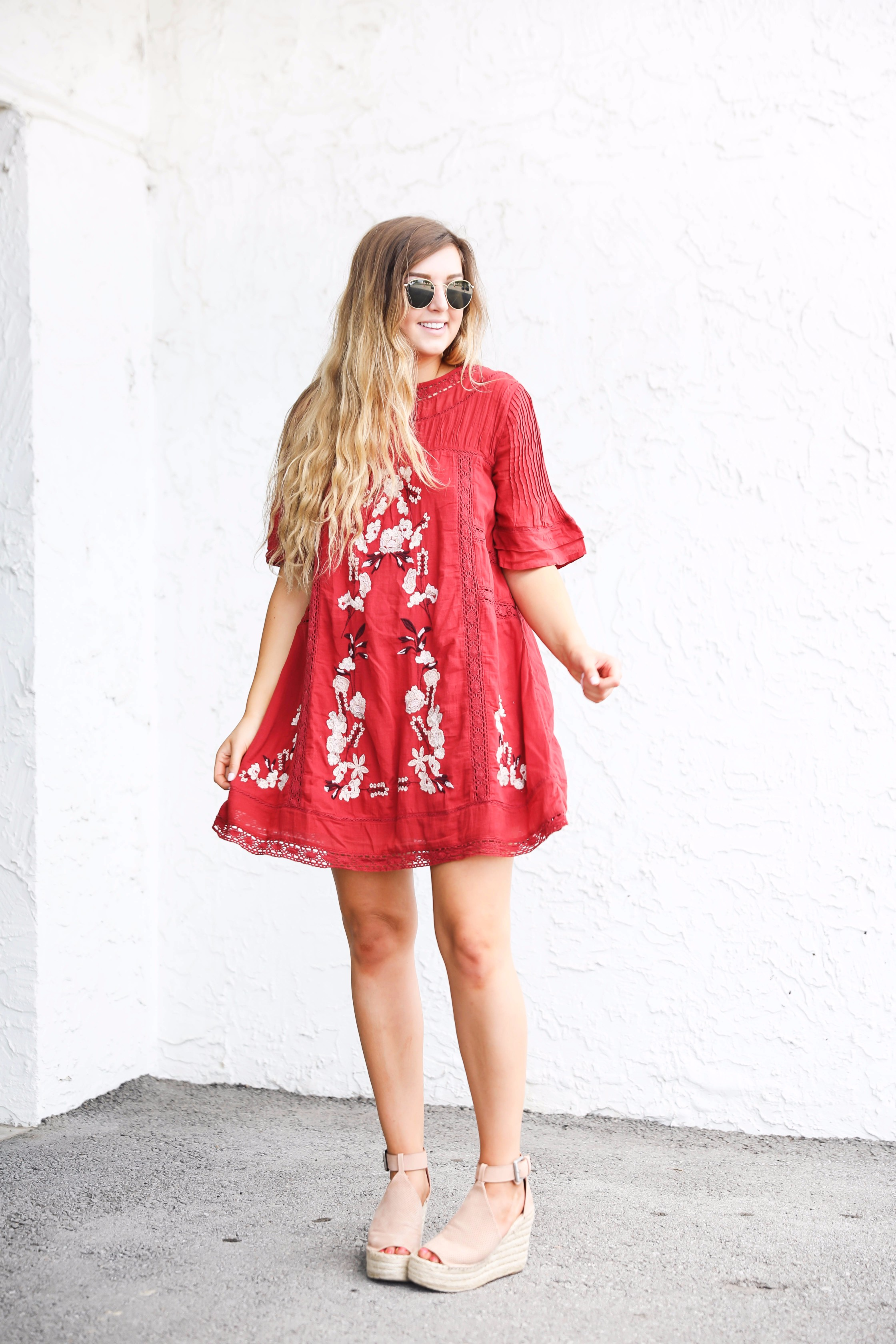 60 Year Anniversary >> Red Dress for Fall | OOTD | Daily Dose of Charm
