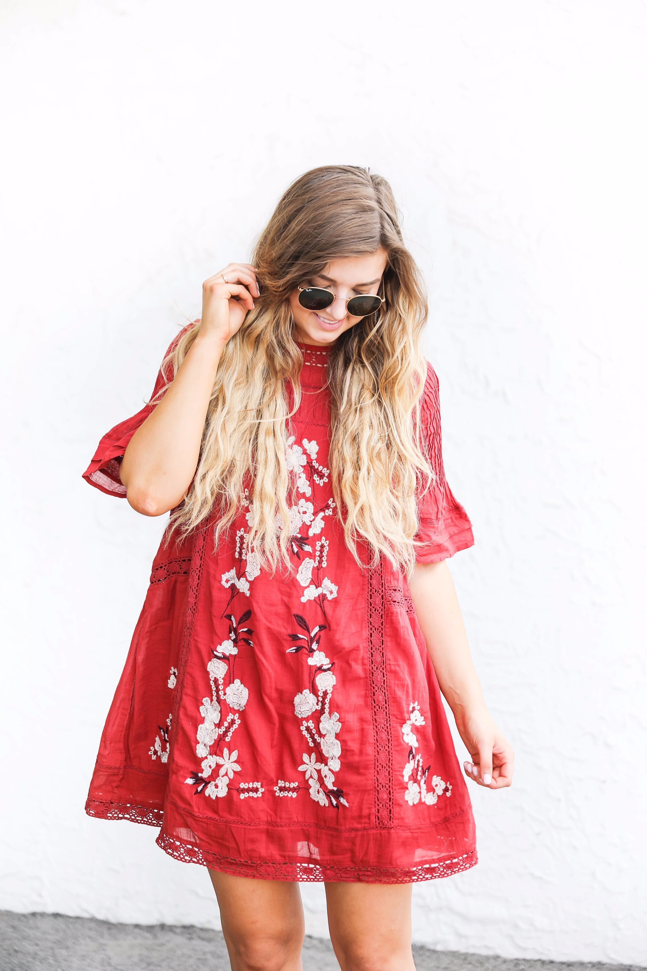 Red Dress For Fall Ootd Daily Dose Of Charm