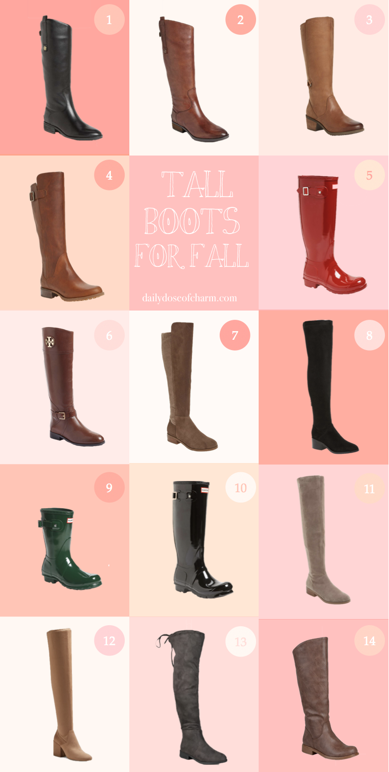 The cutest tall boots for fall by fashion blog daily dose of charm by lauren lindmark