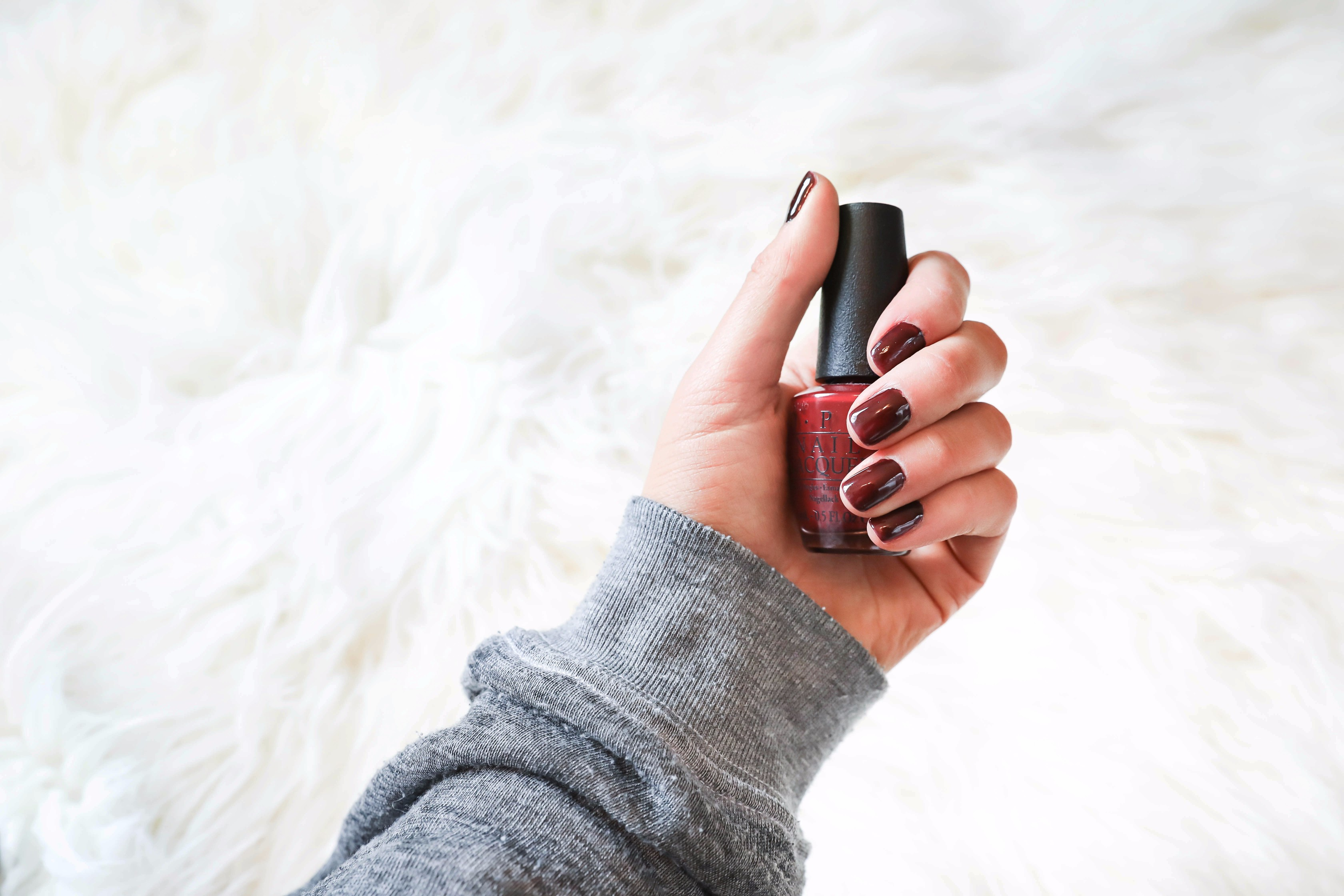 October beauty favorites! Dark nail polish OPI! Beauty flatlay! Details on daily dose of charm by lauren lindmark