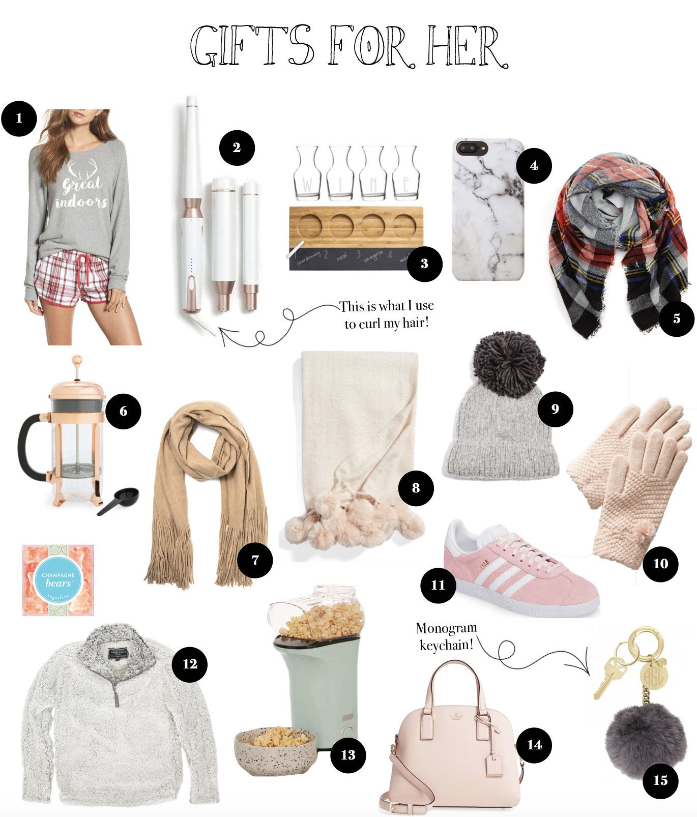 12 Gift Guides of 2017 Gift ideas for her. The girlfriend, wife, sister, aunt, grandma, or gal friend in your life! on fashion blog daily dose of charm by lauren lindmark