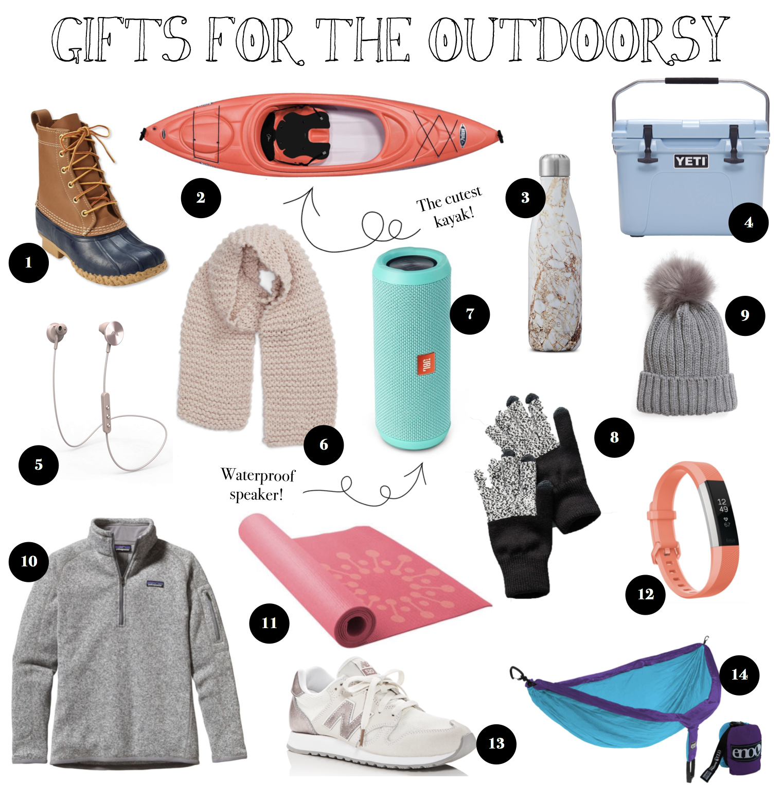 12 Gift Guides of 2017 Gift ideas for outdoorsy people - scarves, outdoor clothing! on fashion blog daily dose of charm by lauren lindmark