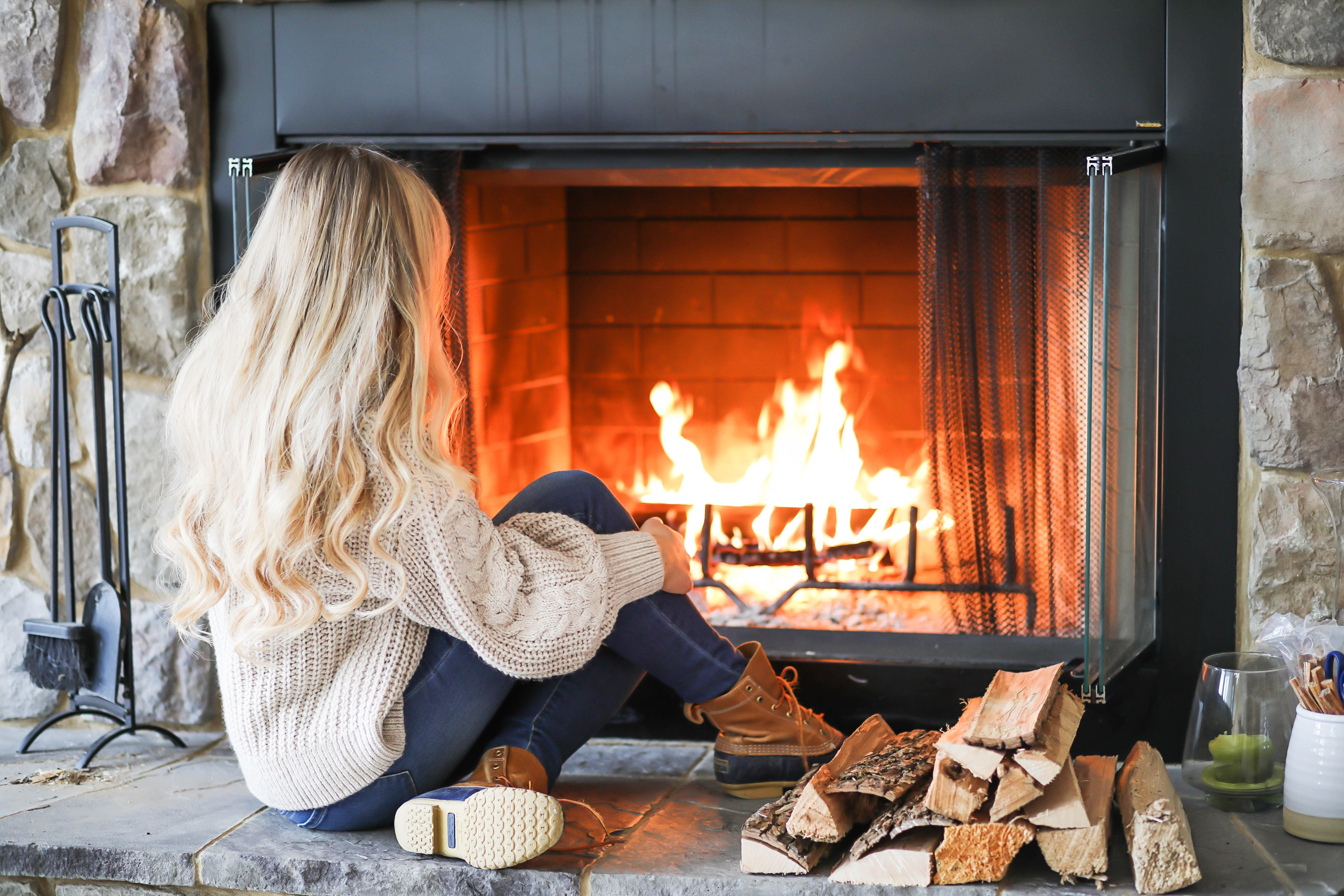 happy new year cozy fireplace ootd my resolutions how i am going to remember them daily. Black Bedroom Furniture Sets. Home Design Ideas