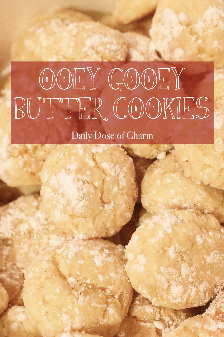 Ooey Gooey Butter Cookies yellow cake mix cookies daily dose of charm lauren lindmark