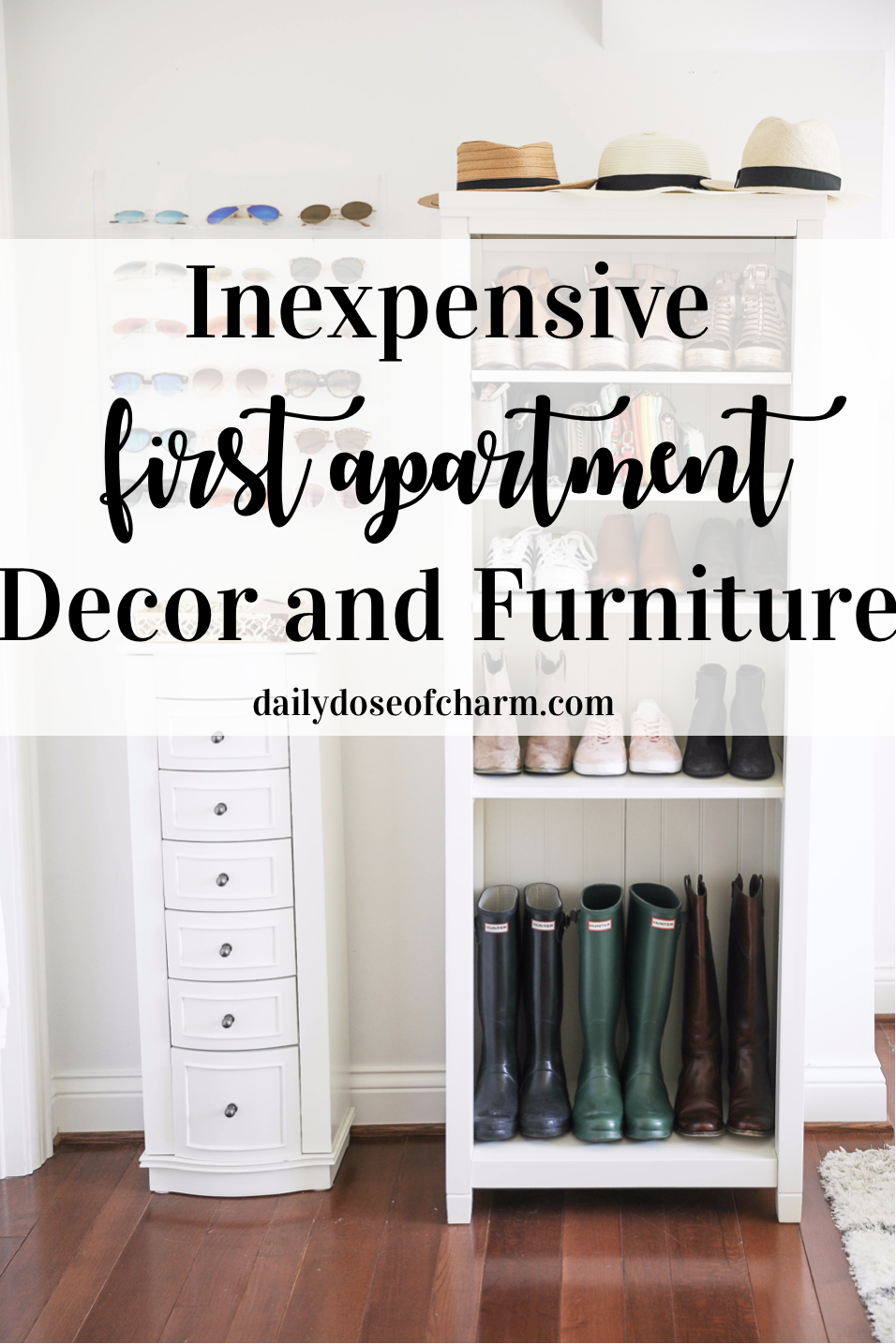 Inexpensive first apartment decor and furniture! Where to find inexpensive decor and cheap furniture! Saving money when moving! college tips daily dose of charm lauren Lindmark