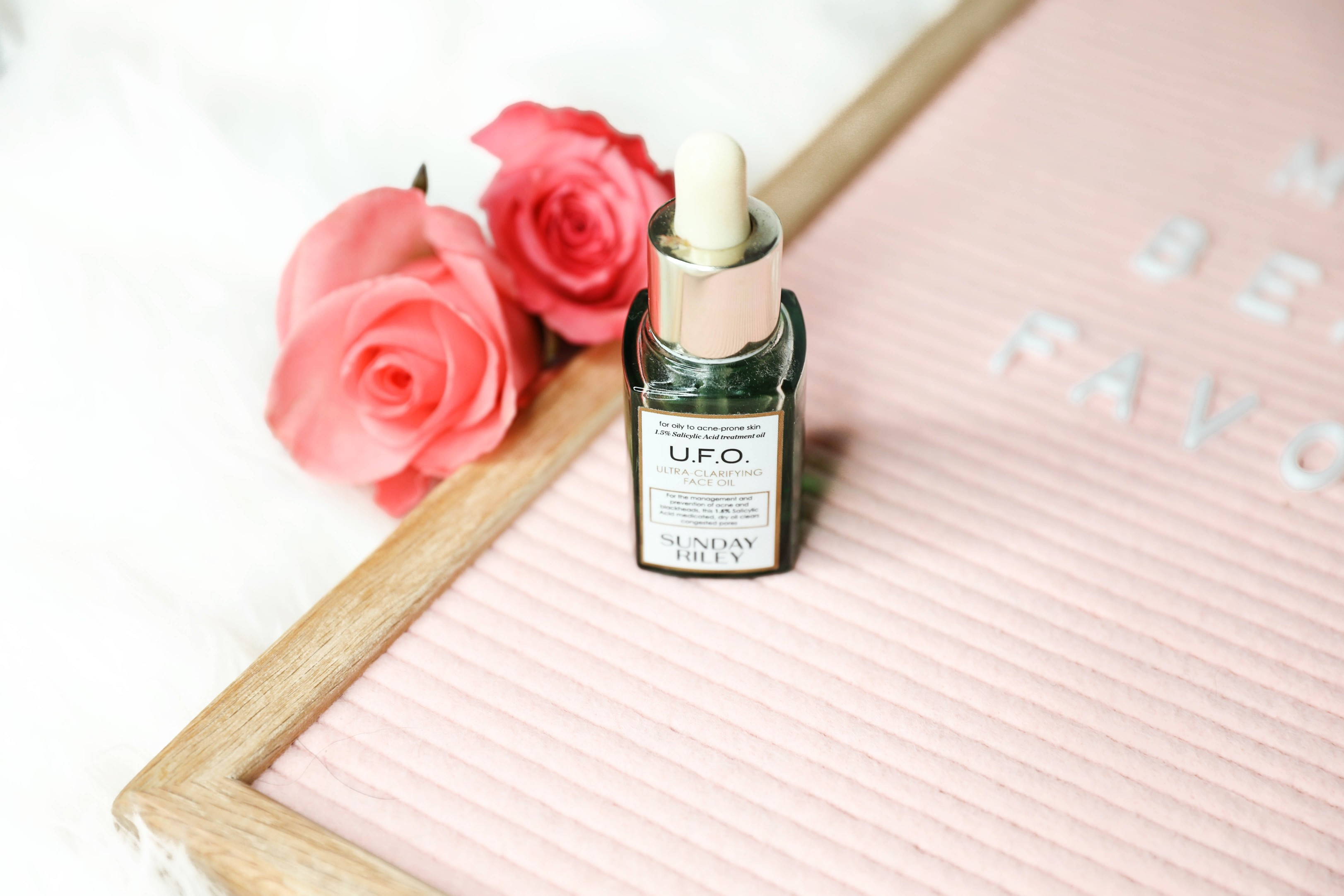 March beauty favorites ufo oil Sunday riley daily dose of charm by lauren lindmark