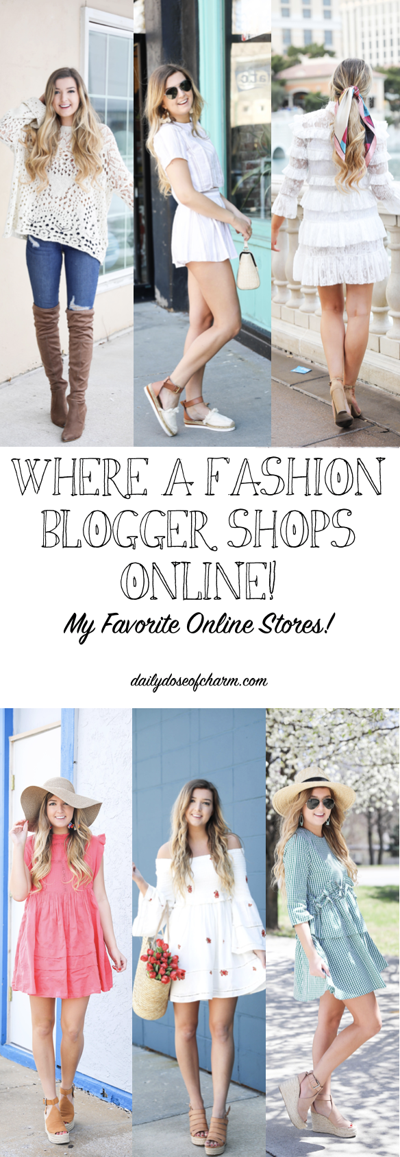 Where a fashion blogger shops online! best online clothing stores! By daily dose of charm by lauren lindmark
