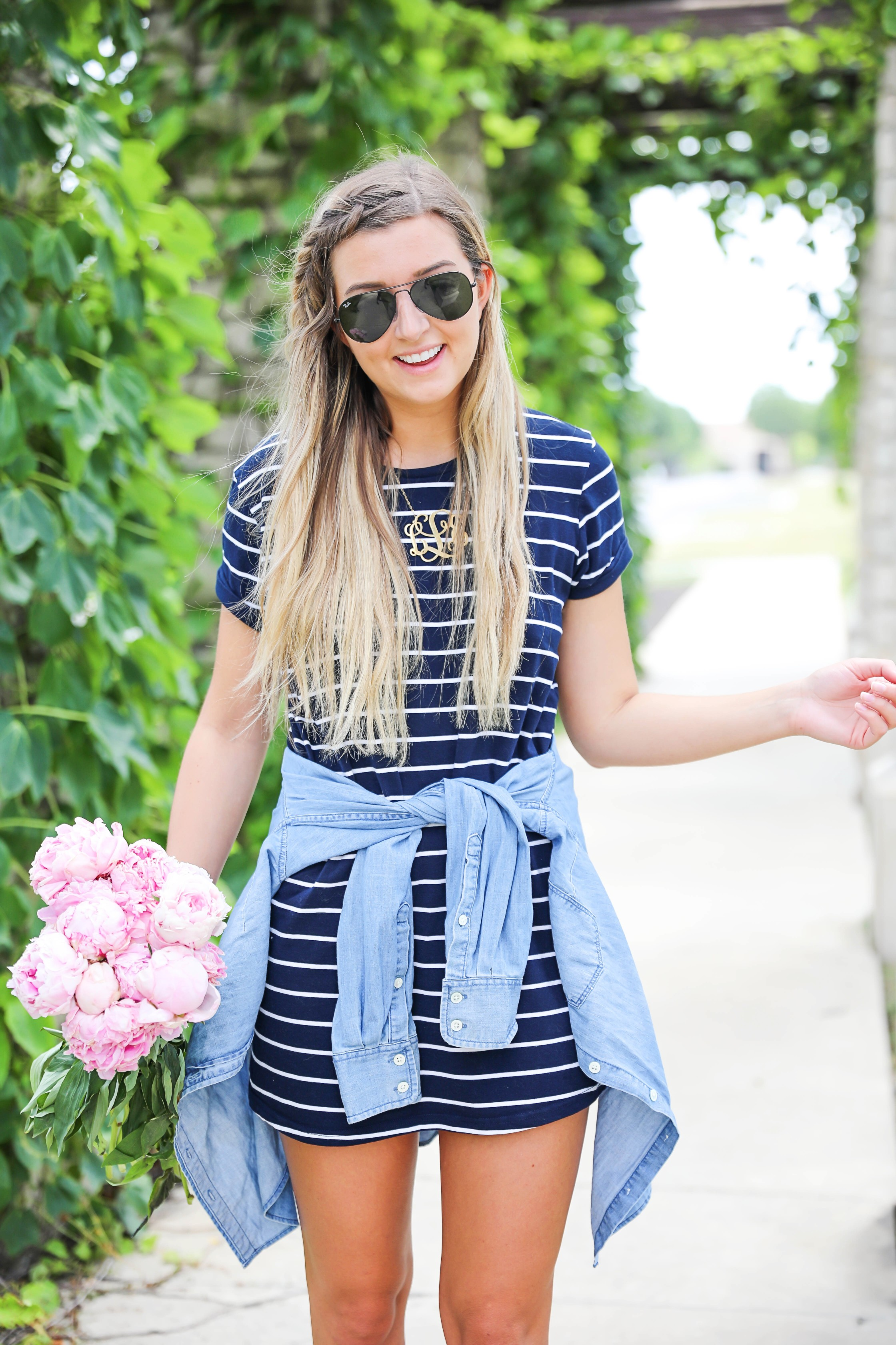 a6215aced1 Striped Dress And Jean Jacket | Huston Fislar Photography