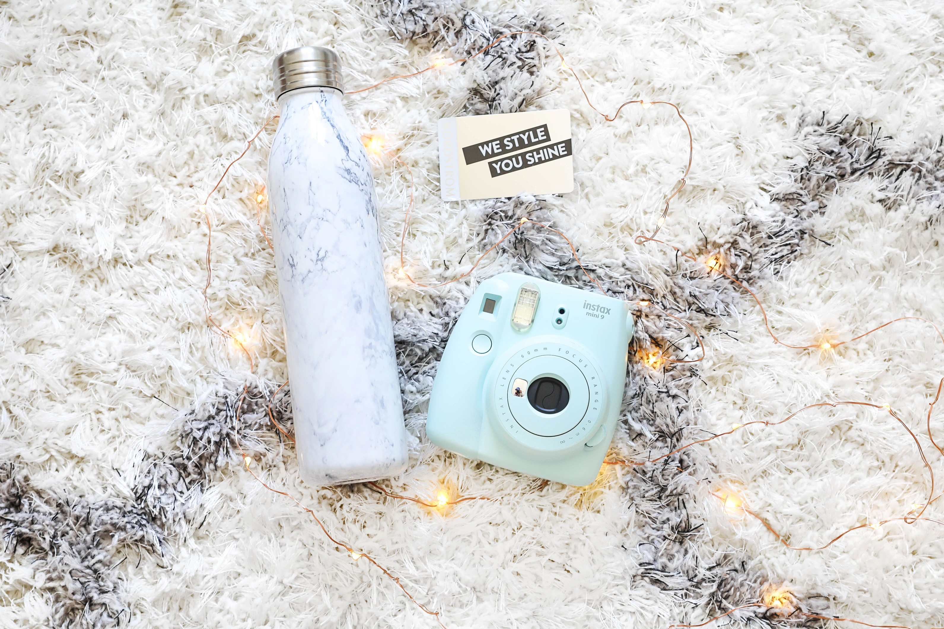 Nordstrom Anniversary Sale Giveaway! Giving away an $100 nordstrom giftcard, polariod camera, and marble waterbottle! Get ready for the sale with all these necessities! Details on fashion blog daily dose of charm by lauren lindmark