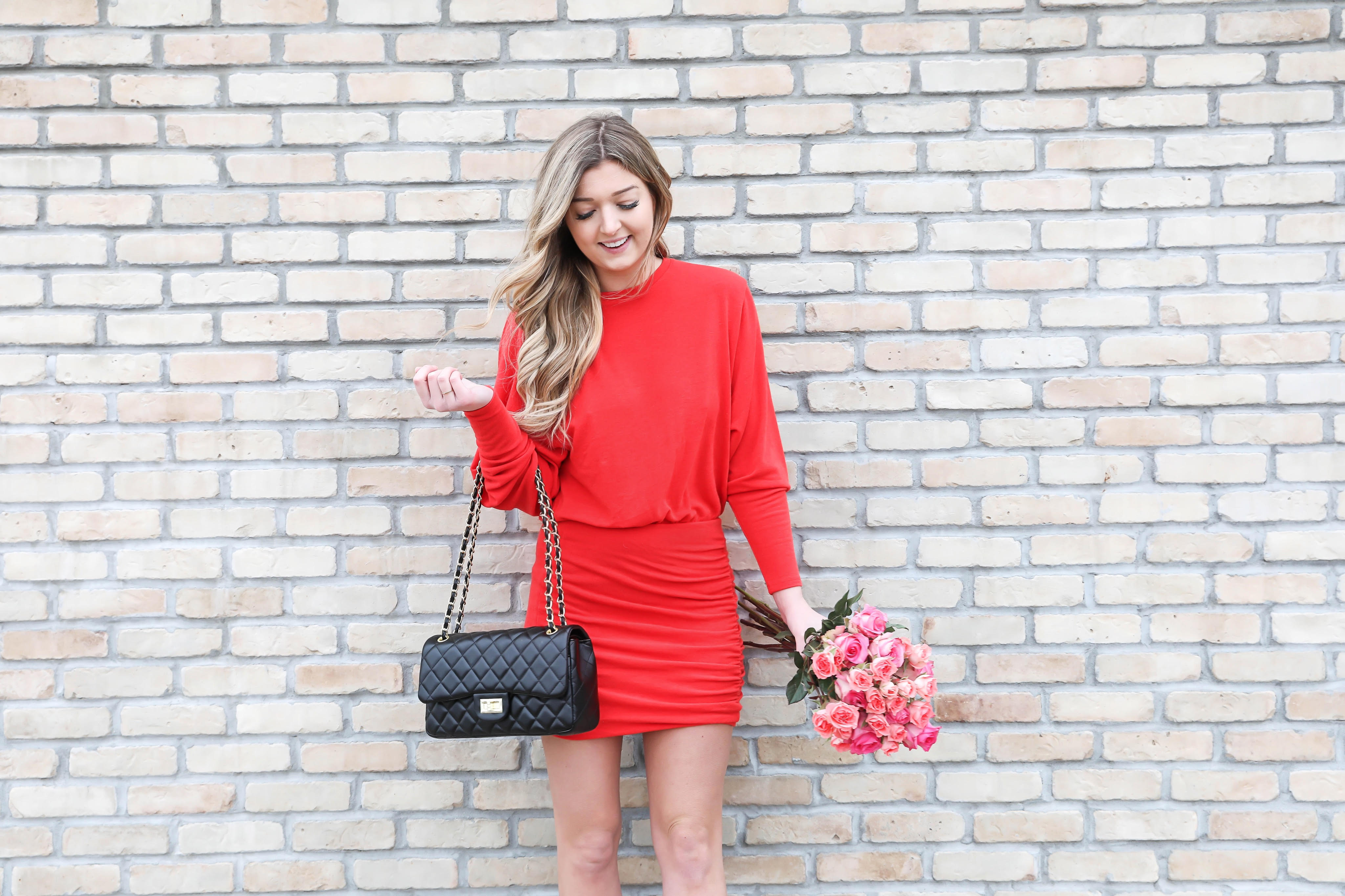Valentine's Day dress ideas! These are the cutest last minute outfits. Everything from red, pink, white, and black dresses! I tried to include some nice and casual outfits. Dresses from nordstrom, revolve, Red Dress, and more! Details on fashion blog daily dose of charm by lauren lindmark