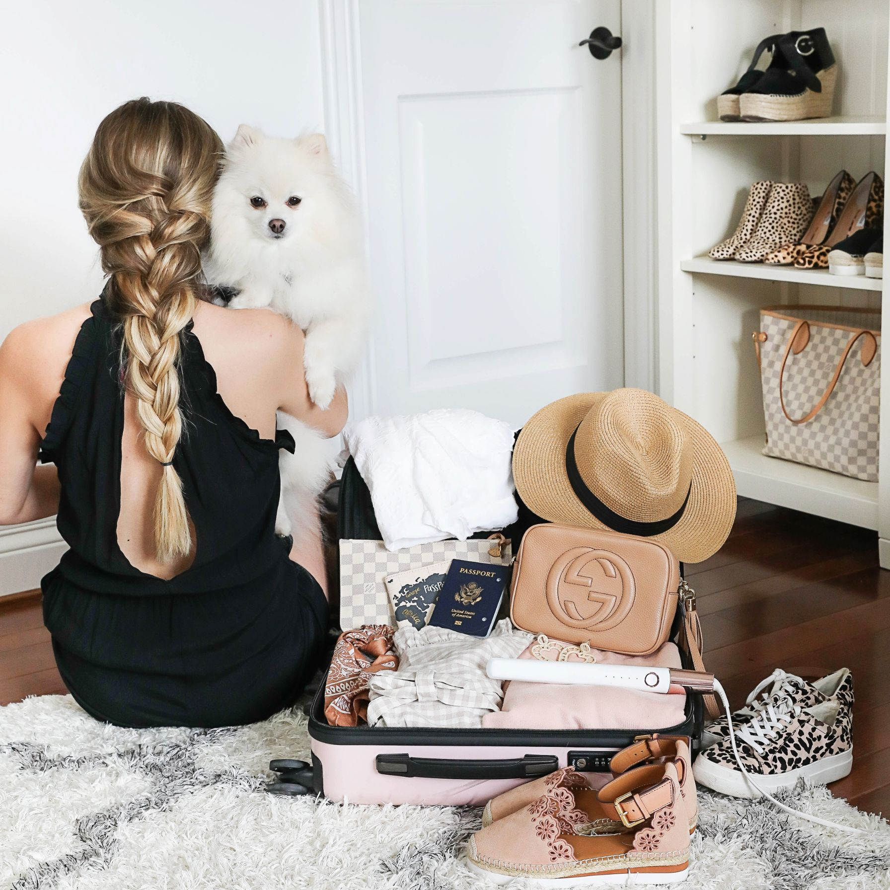Weekend packing tips short vacation suitcase luggage lifestyle fashion blog daily dose of charm lauren lindmark
