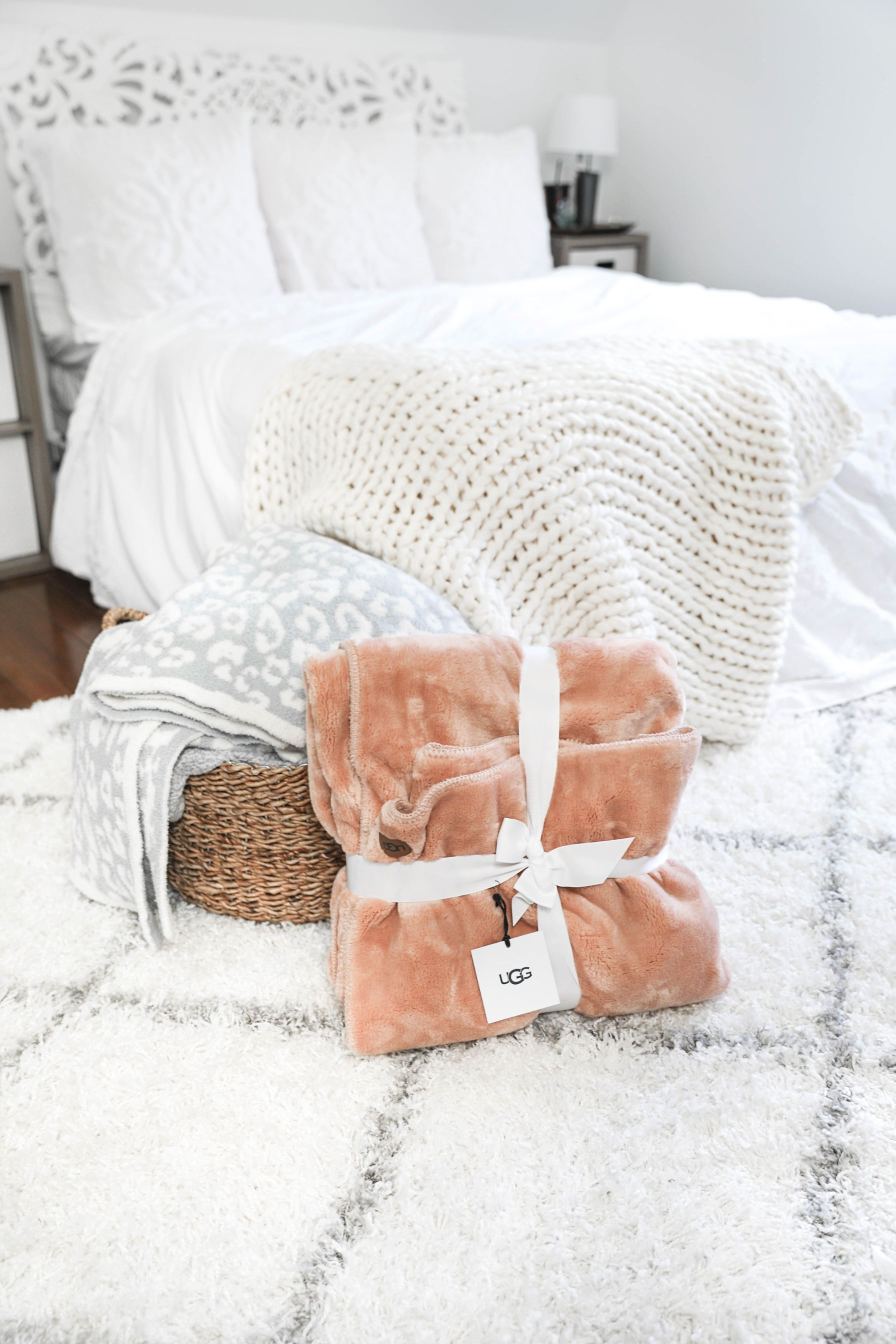 Nordstrom anniversary sale home decor roundup! How cute is this UGG blanket? It is SO soft! Checkout of all my favorites rounded up on fashion blog daily dose of charm by lauren lindmark