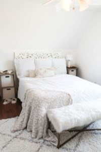 Year Long Room Transformation with Before and After Photos! Bright White Simple Room Decor! Details on Fashion Blog Daily Dose of Charm by Lauren Lindmark