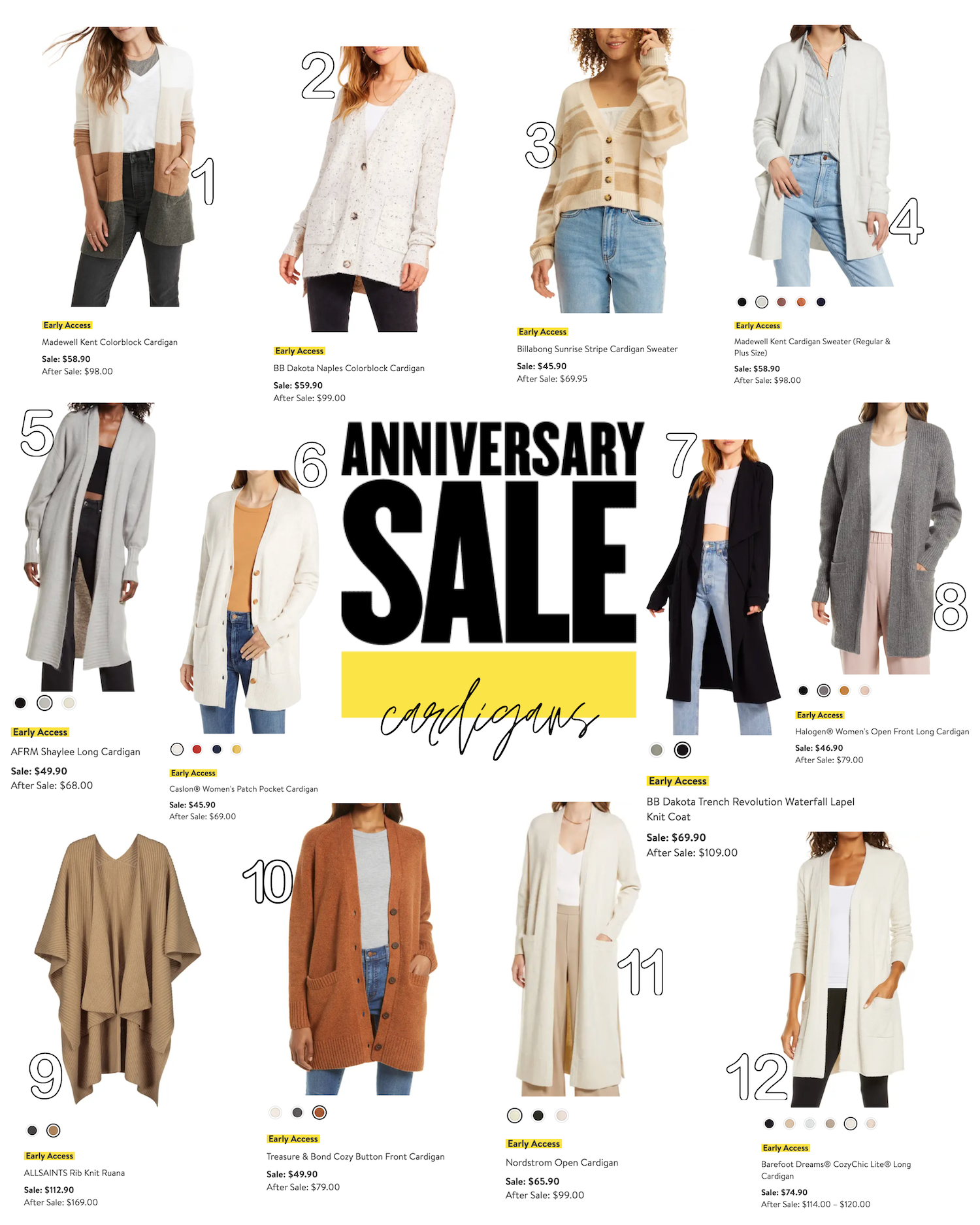 Nordstrom Sale 2021 Roundup The best Cardigans daily dose of charm nsale Lauren Emily Lindmark